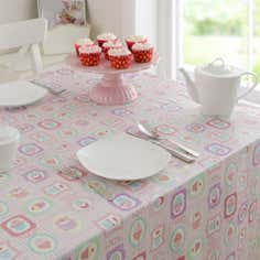 Tea Party Round PVC Tablecloth