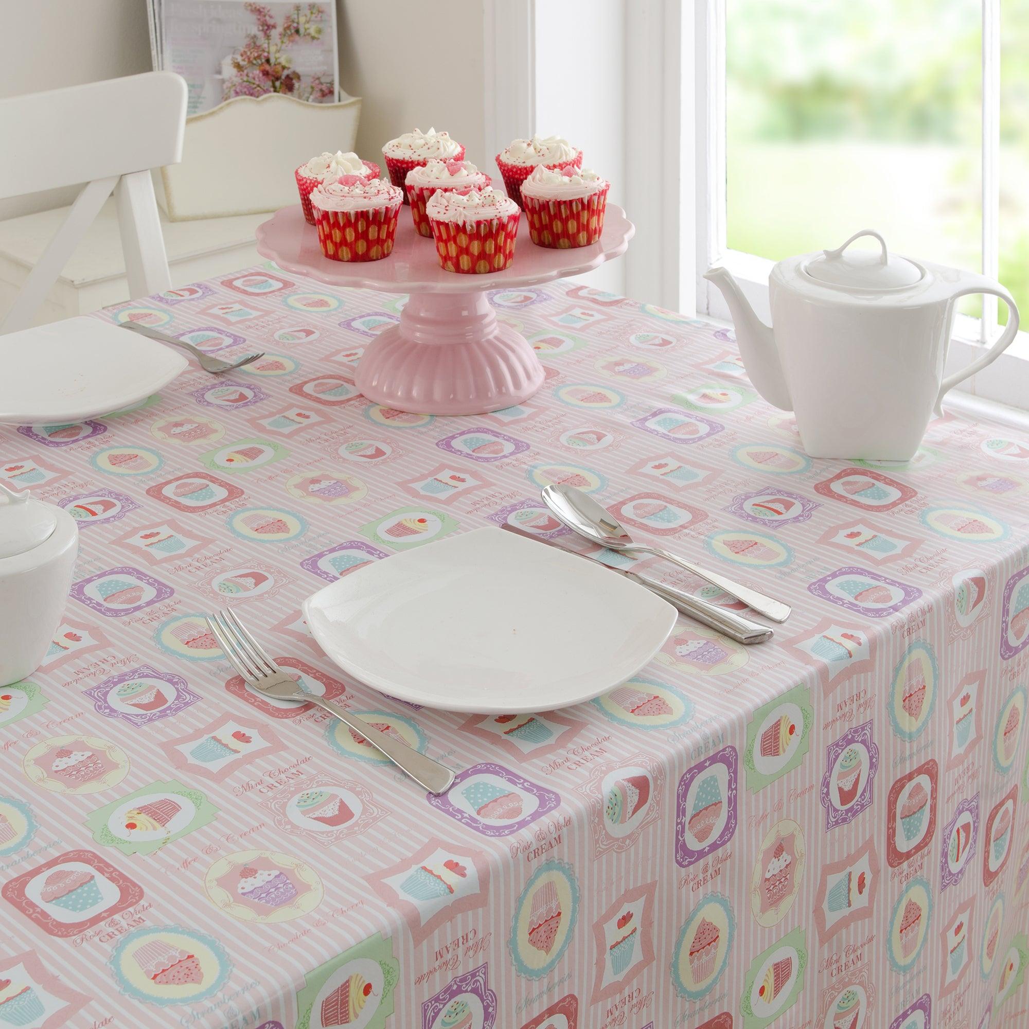 Tea Party Round PVC Tablecloth