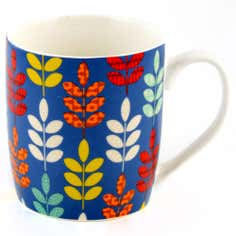 Patterned Leaf Mug