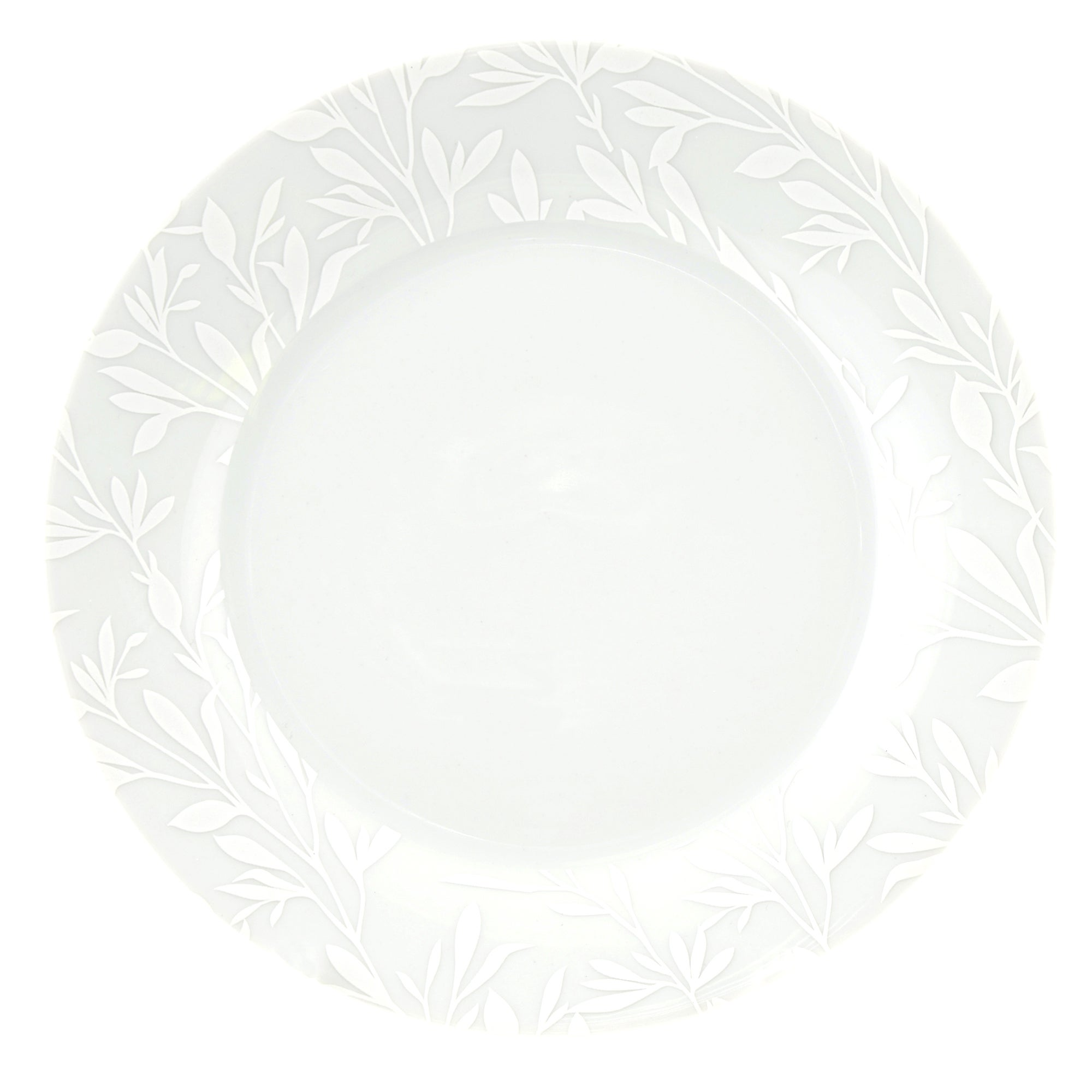 White on White Collection Dinner Plate