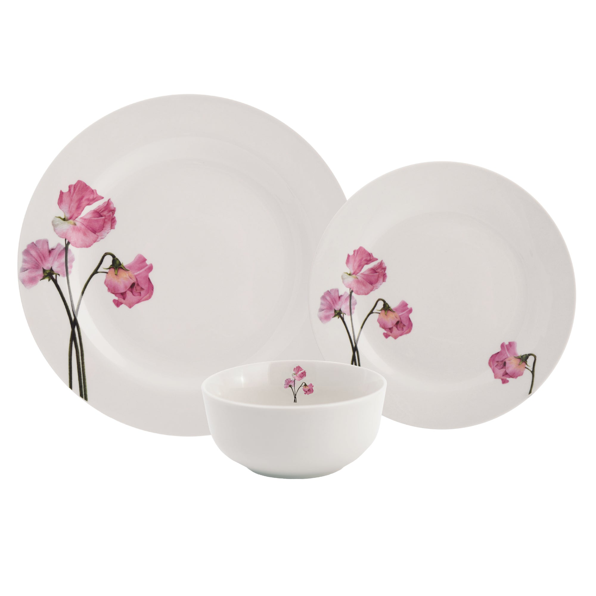 Sweet Pea Collection 12 Piece Dinner Set