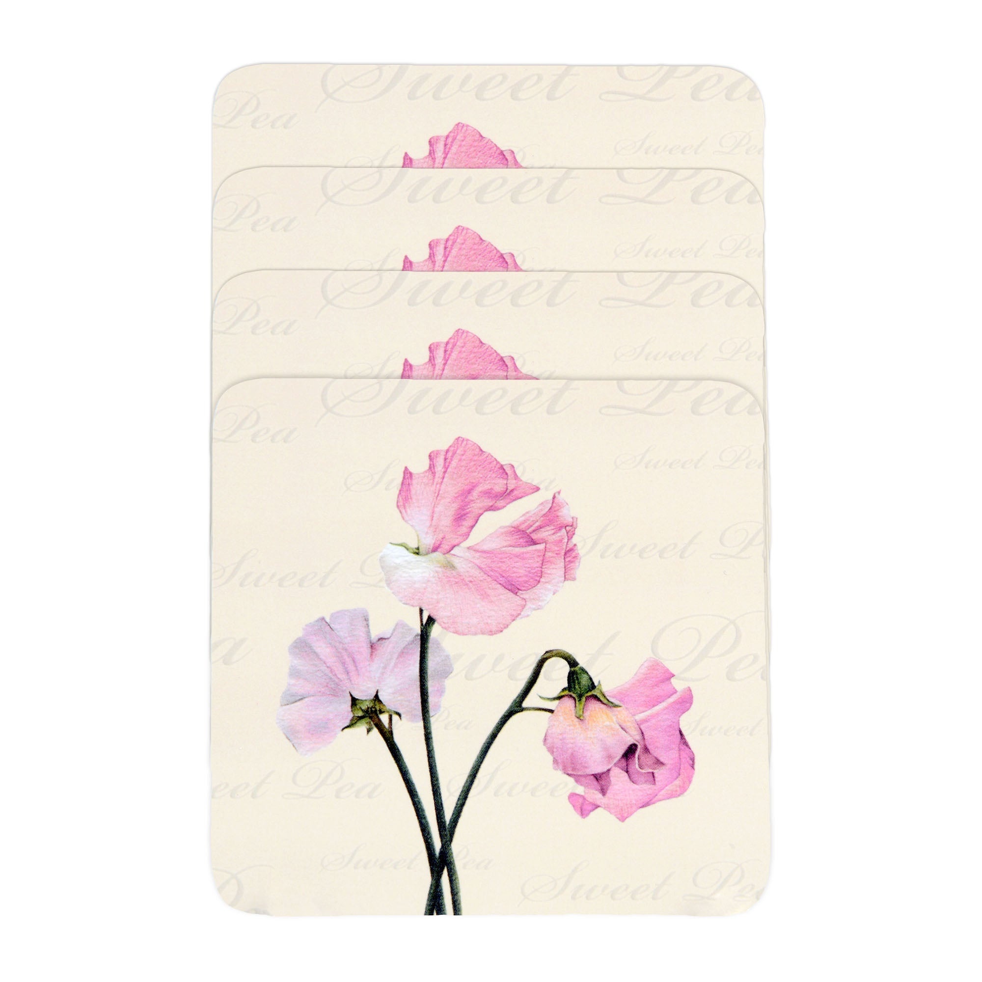 Sweet Pea Collection Set of Four Coasters