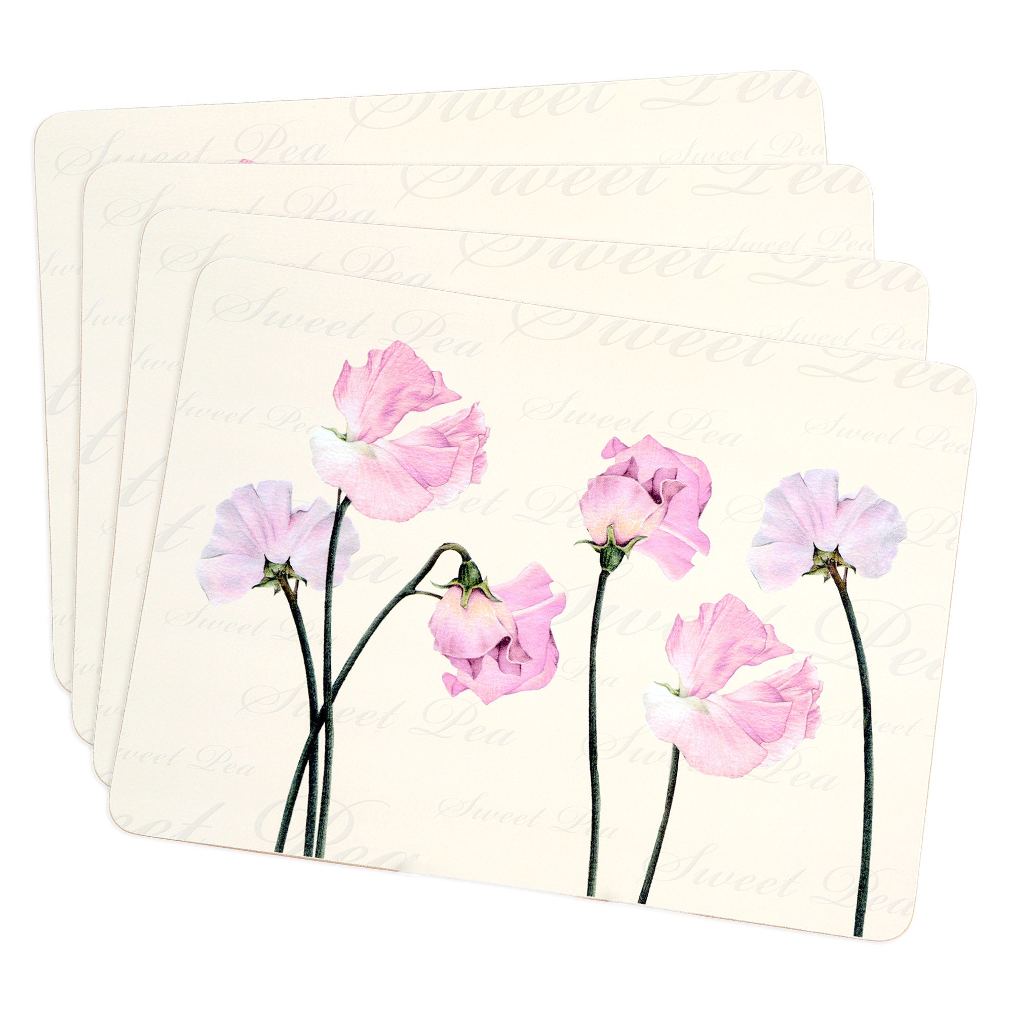 Sweet Pea Collection Set of Four Placemats