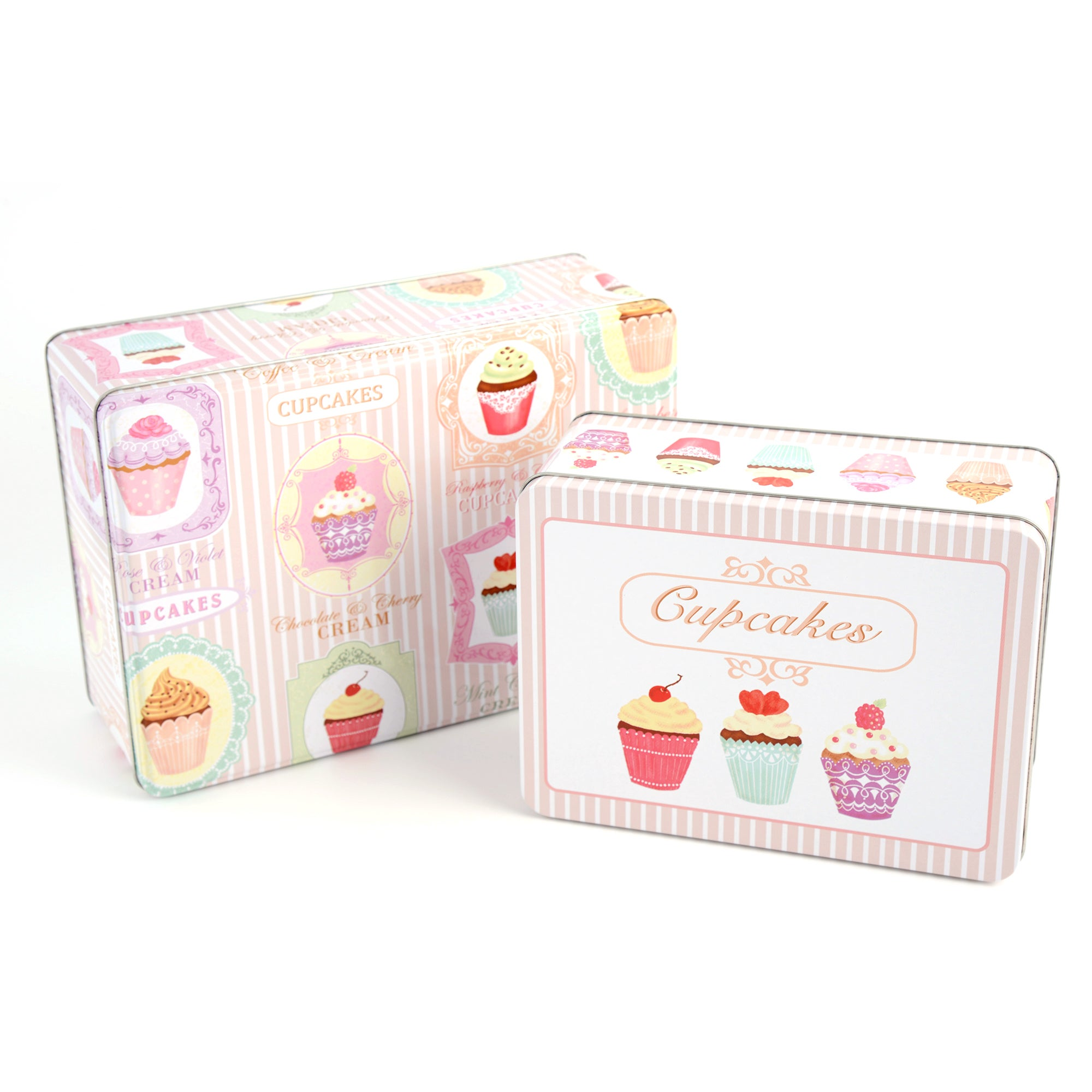 Tea Party Collection Set of Two Cake Tins