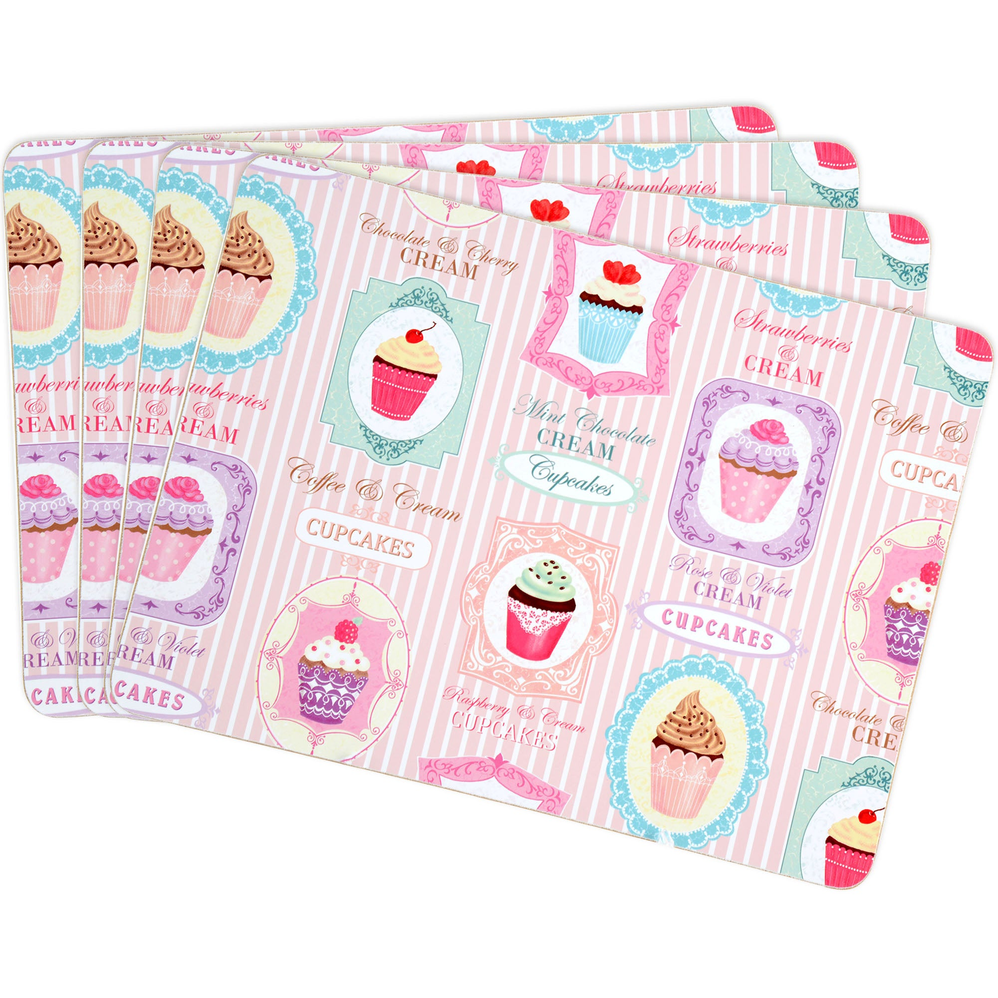 Tea Party Collection Set of Four Placemats