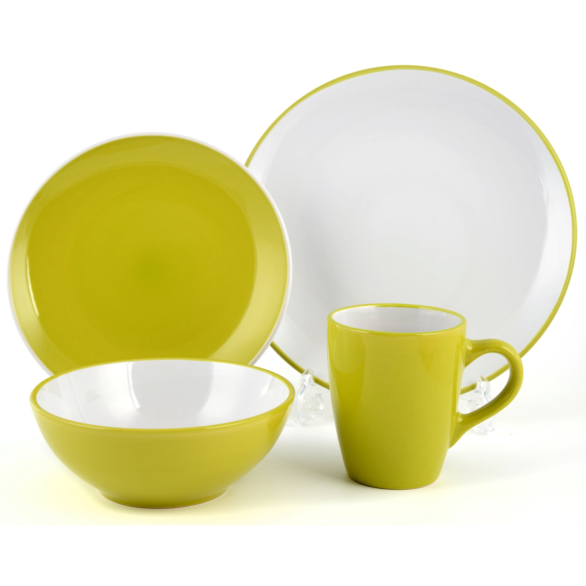 Lime Spectrum Collection 16 Piece Dinner Set