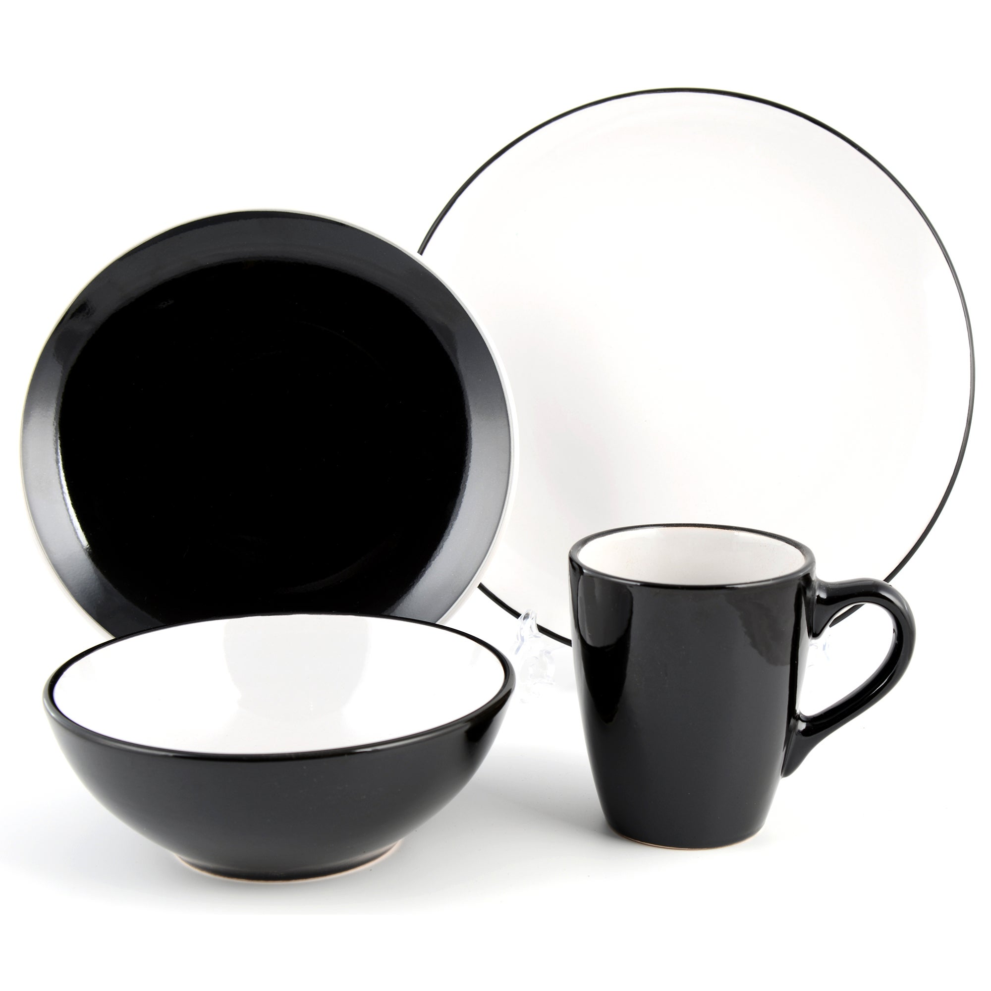 Black Spectrum 16 Piece Dinner Set