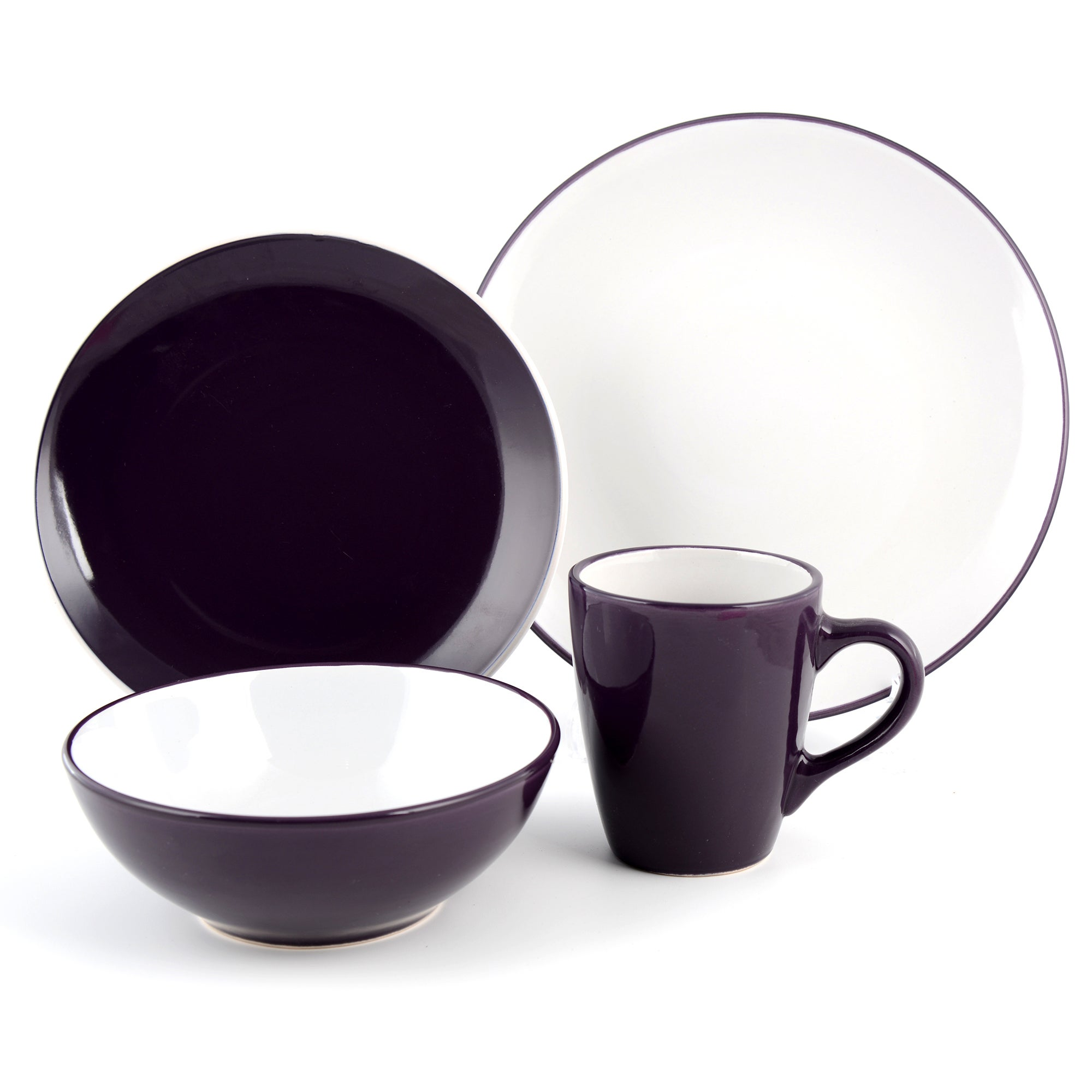 Purple Spectrum 16 Piece Dinner Set