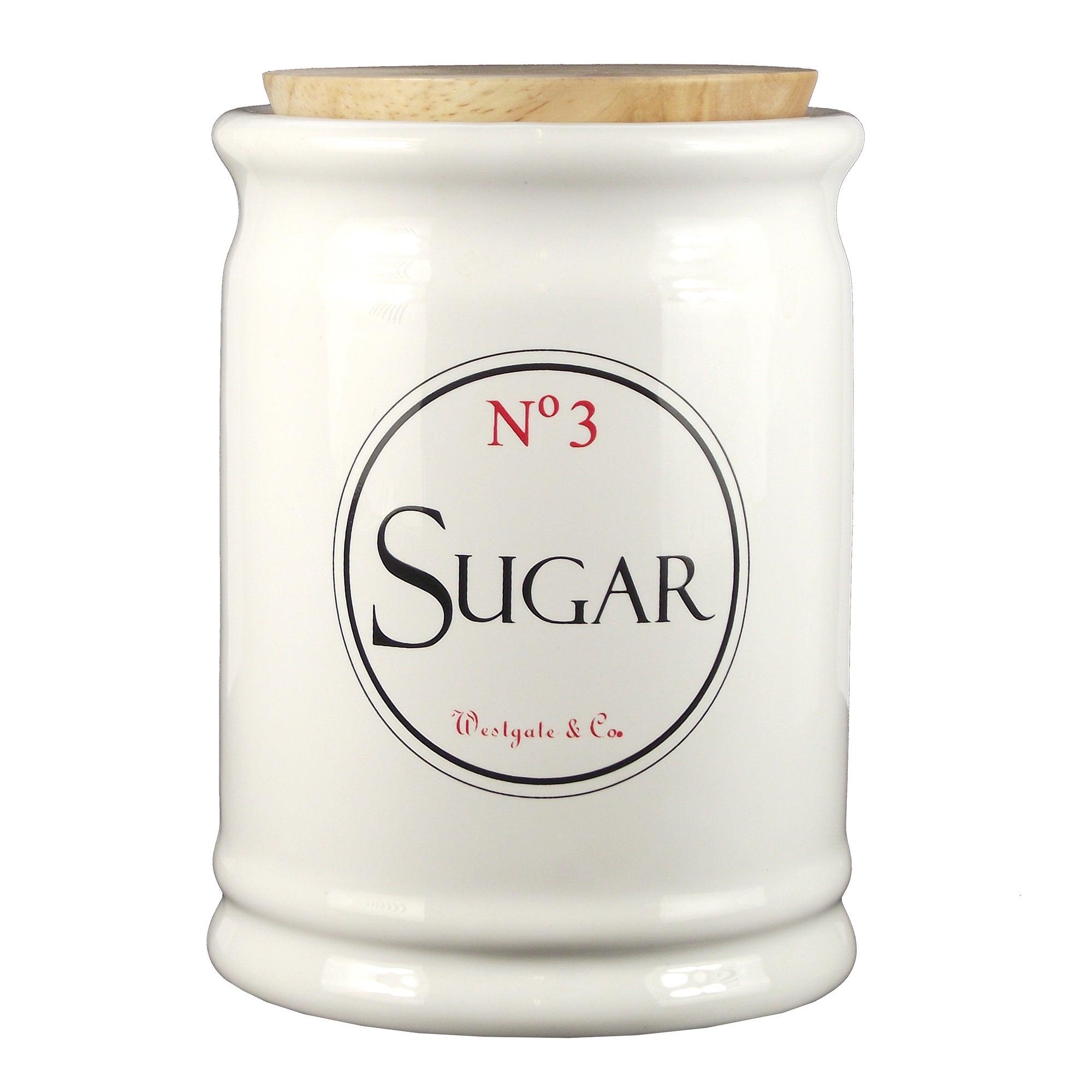 Vintage Tea Sign Collection Sugar Canister