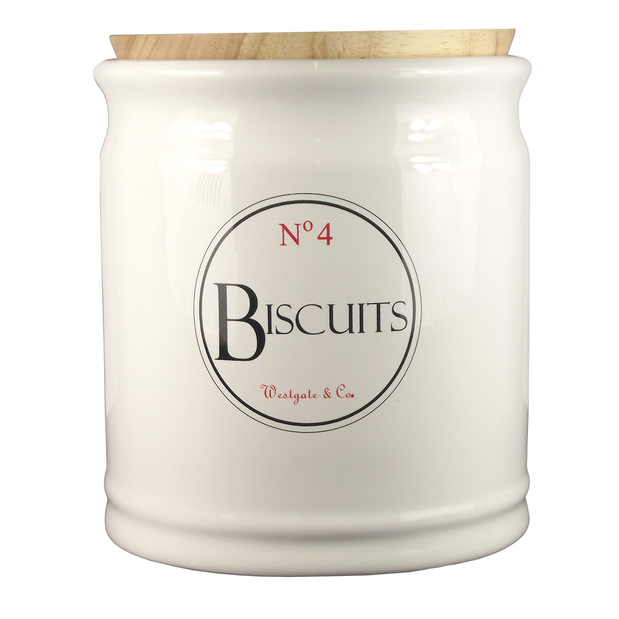 Vintage Tea Sign Collection Biscuit Canister