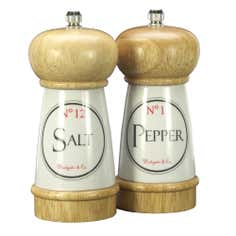 Vintage Tea Sign Collection Salt and Pepper Set
