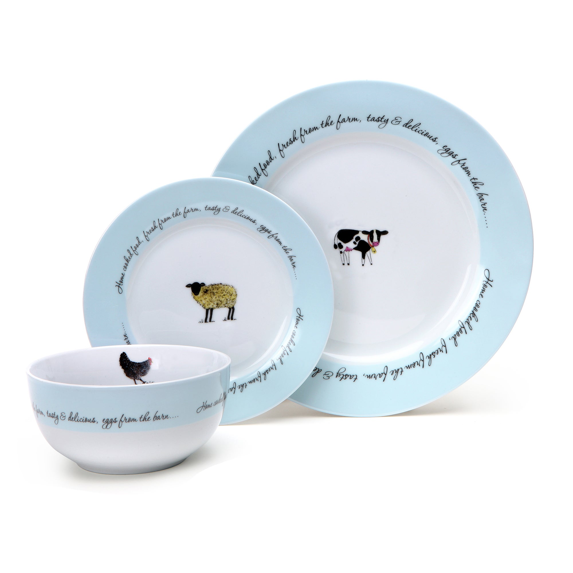 Bakewell Farm Collection 12 Piece Dinnerware Set