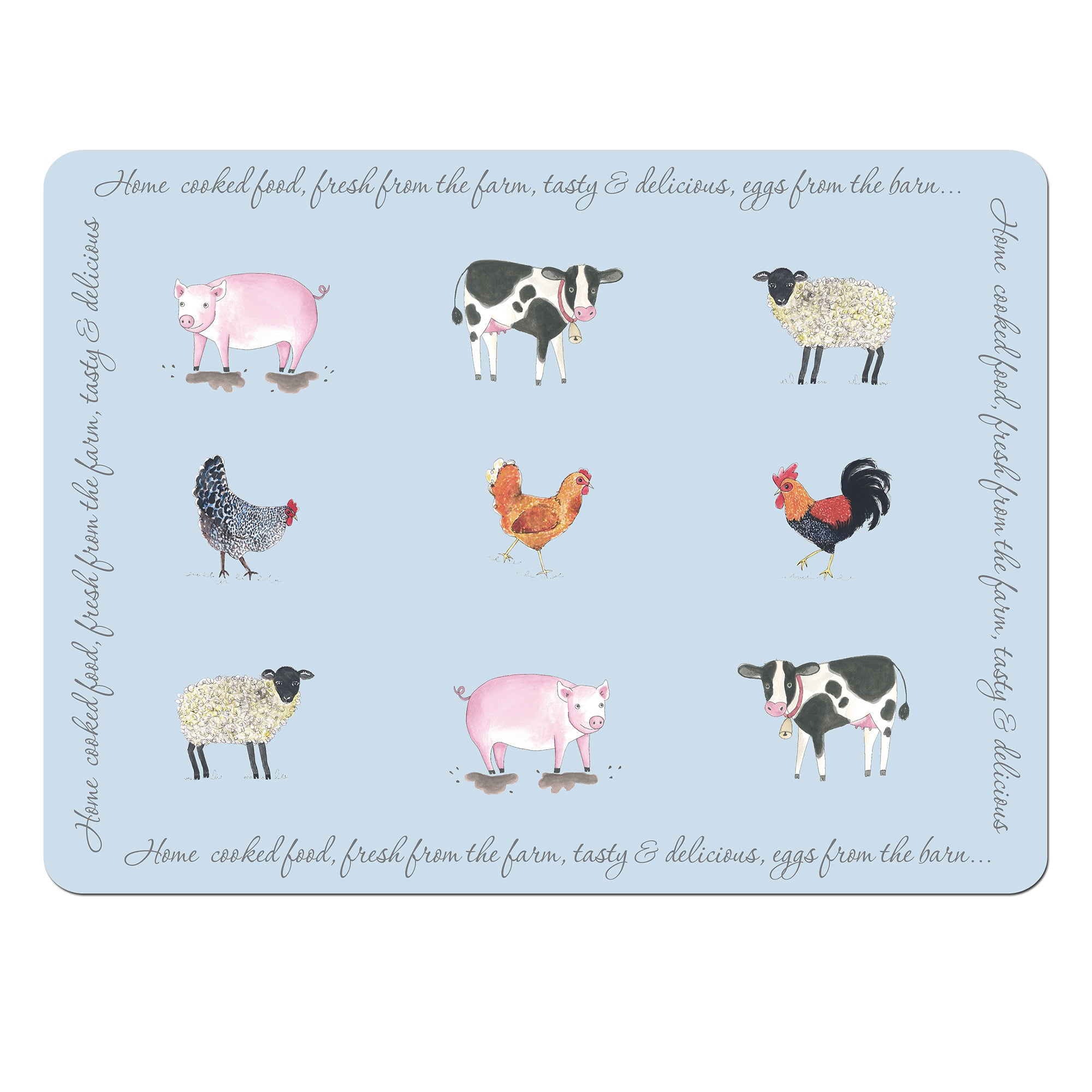 Bakewell Farm Collection Set of 4 Placemats