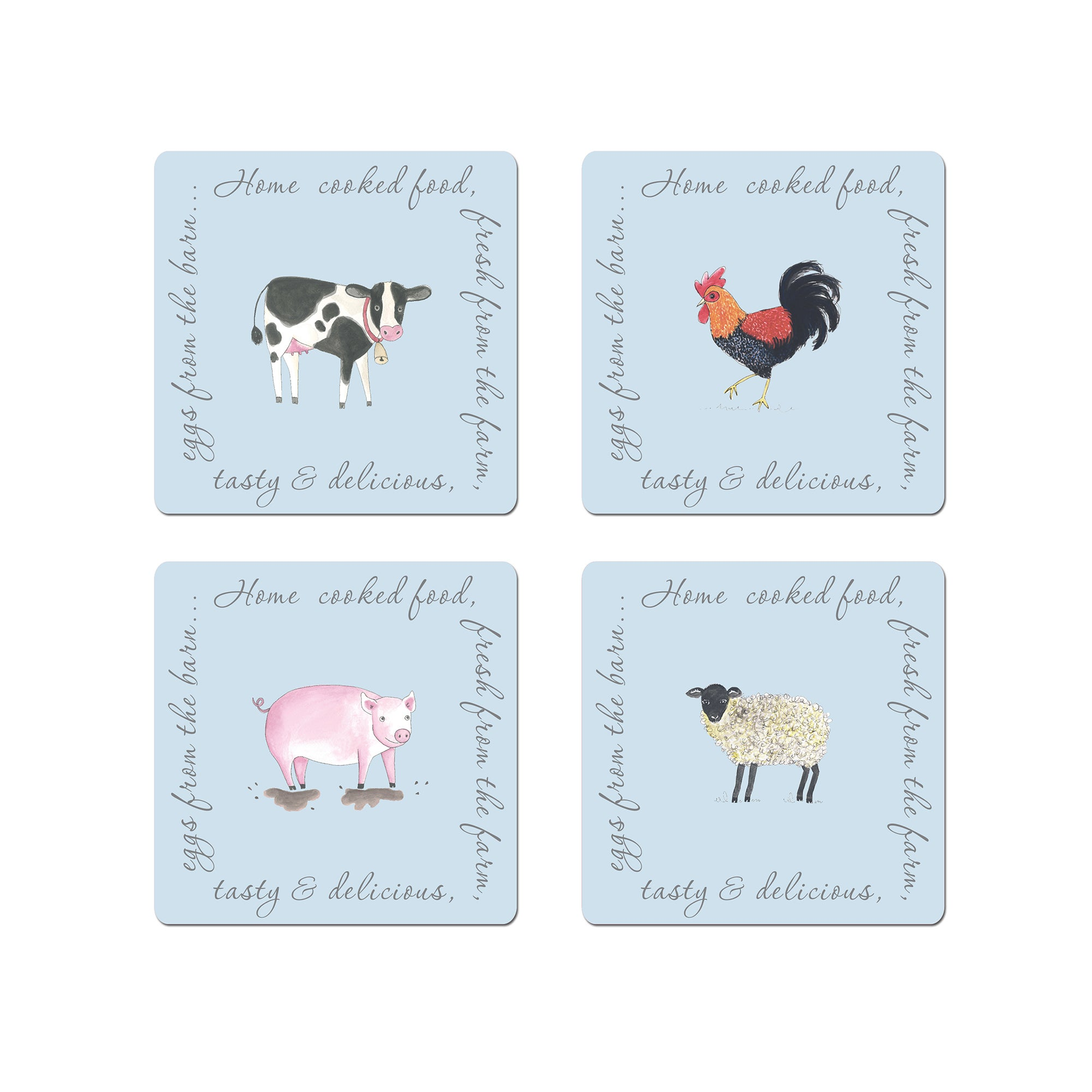 Bakewell Farm Collection Pack of 4 Coasters