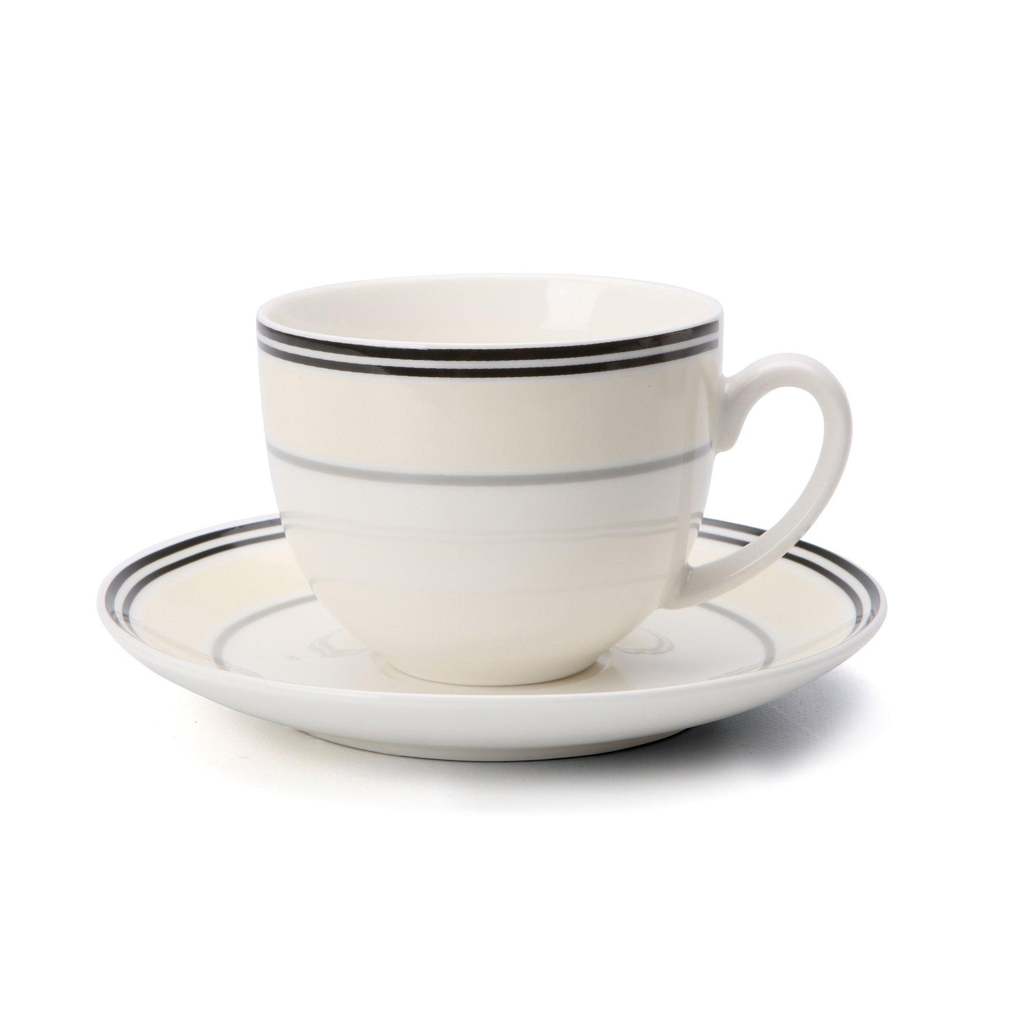 City Stripe Collection Teacup And Saucer