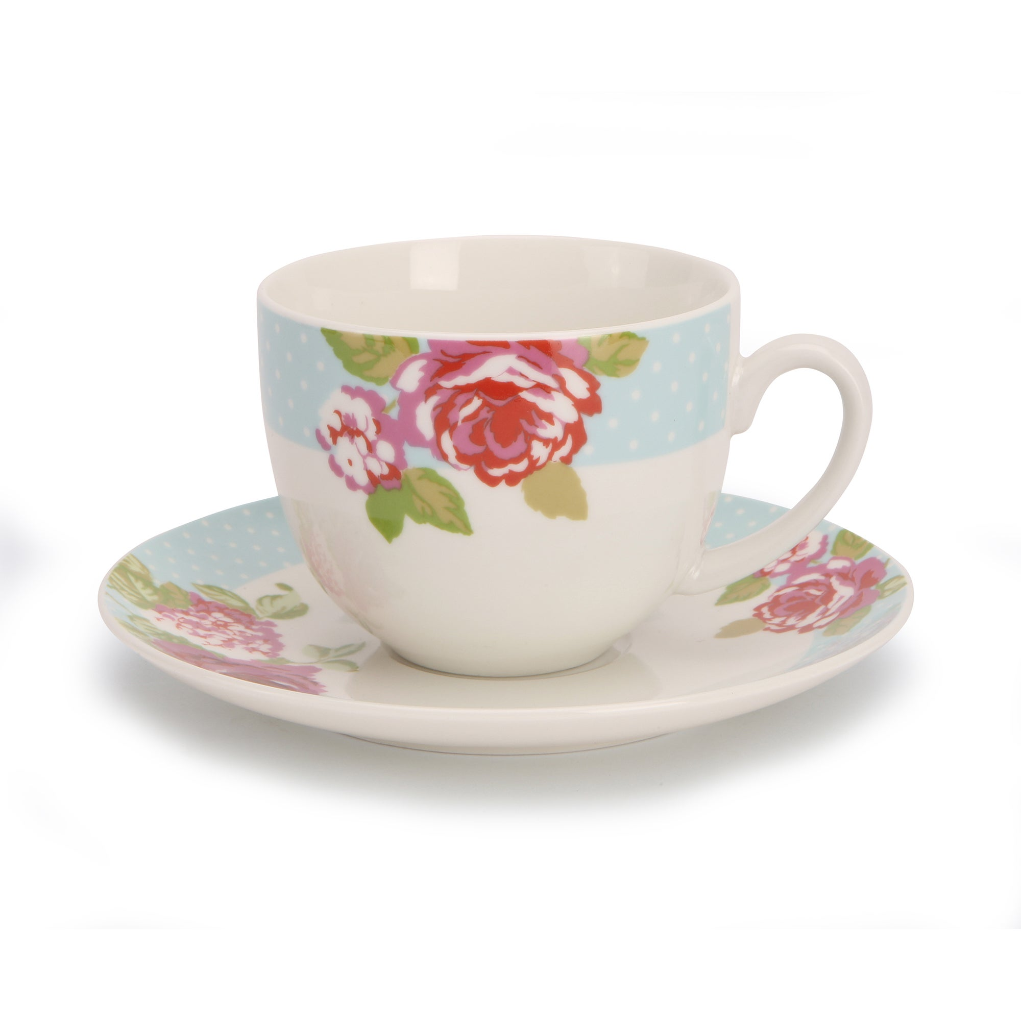 Rose and Ellis Clarendon Collection Teacup and Saucer