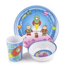 Kids Viners Space Family 3 Piece Melamine Dinner Set