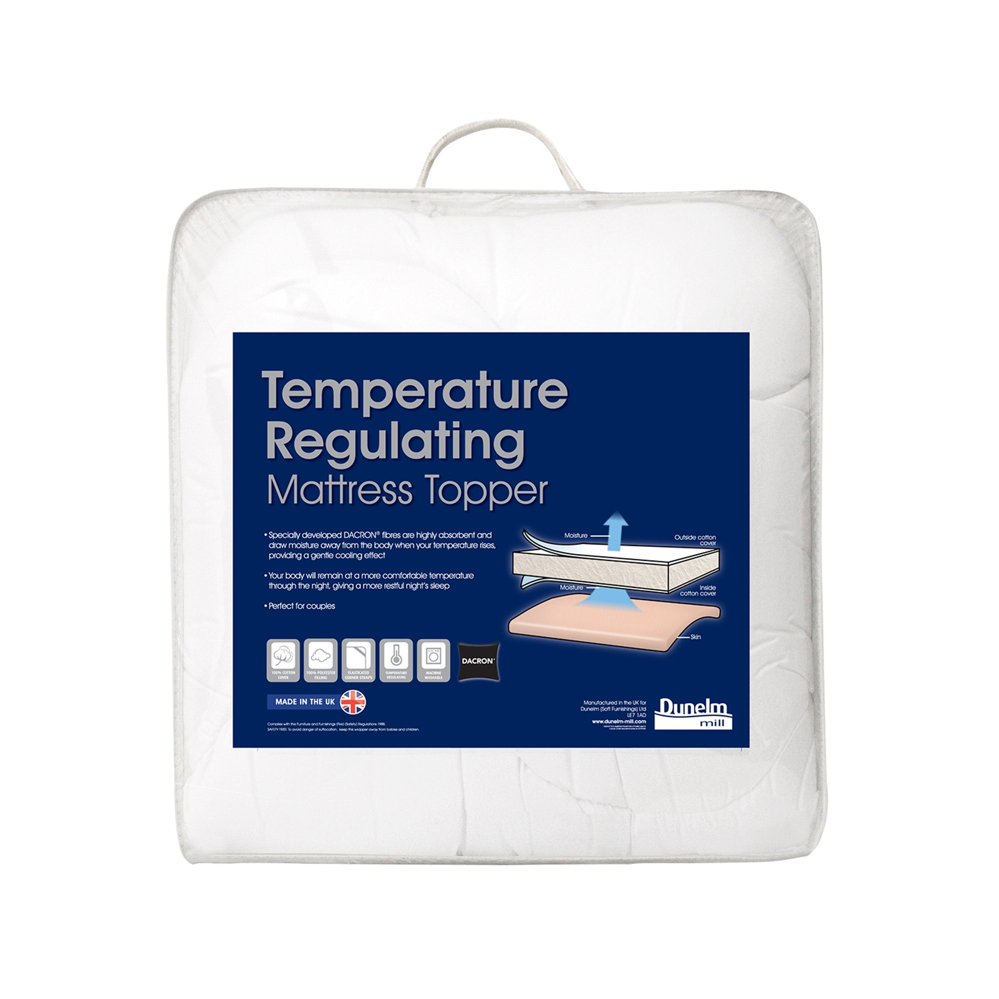 Temperature Regulating Mattress Topper