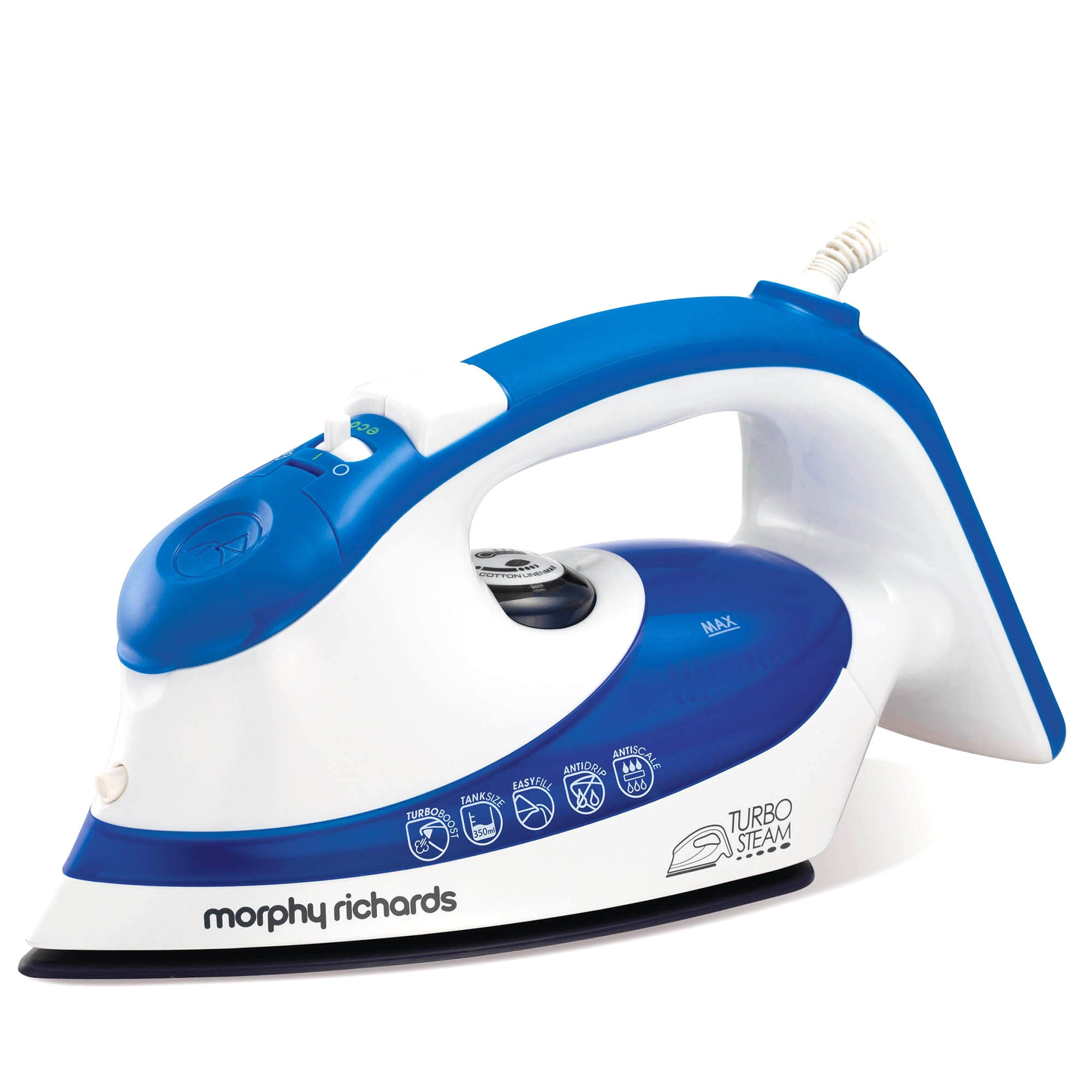 Morphy Richards 300601 Blue Ionic Turbosteam Iron 2000w