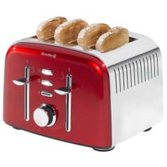 Breville Red Aurora 4 Slice Toaster