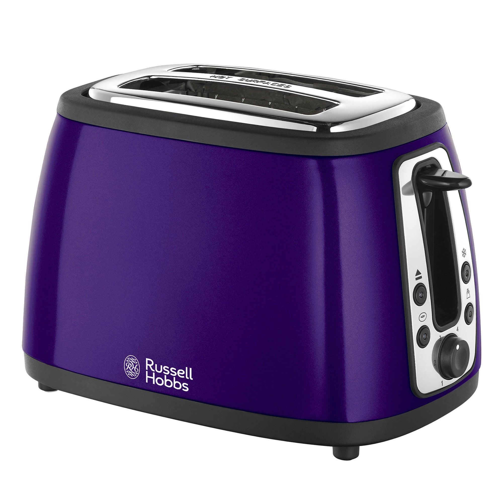 Russell Hobbs Heritage 19153 Purple 2 Slice Toaster