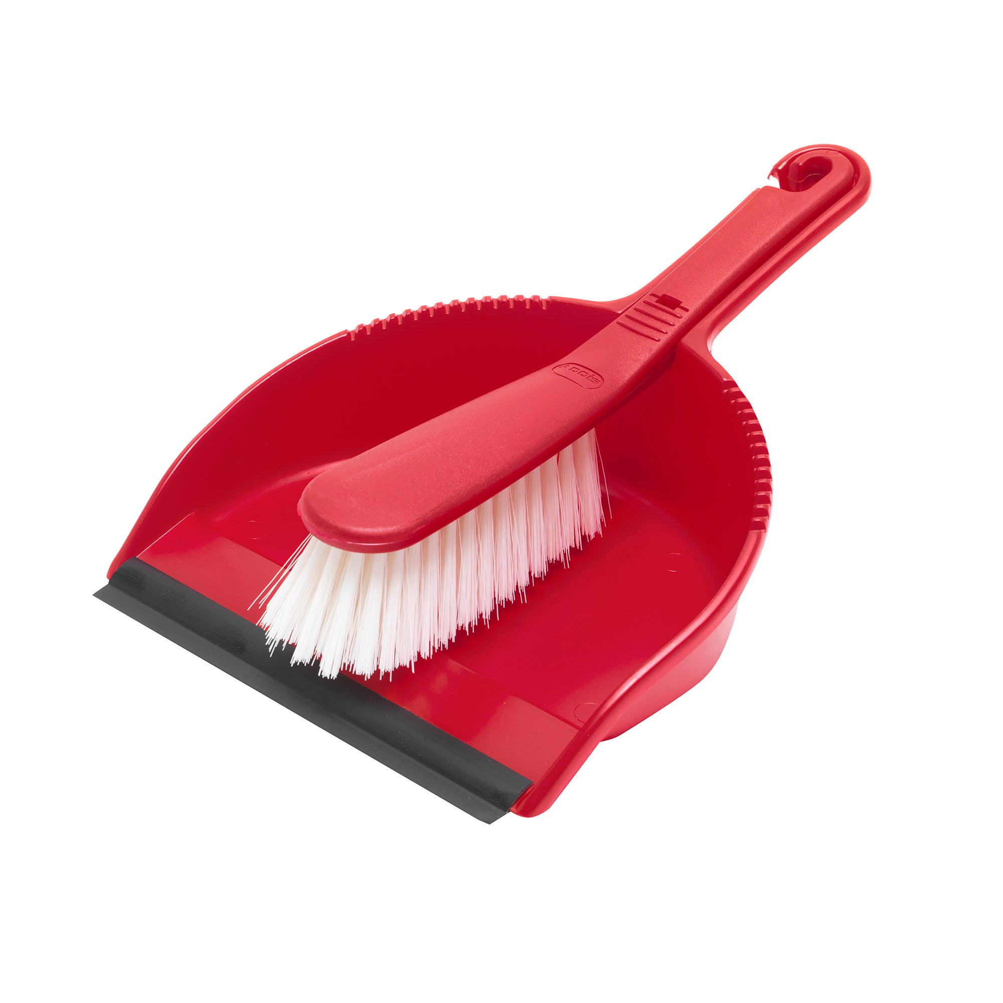 Red Spectrum Collection Dustpan and Brush