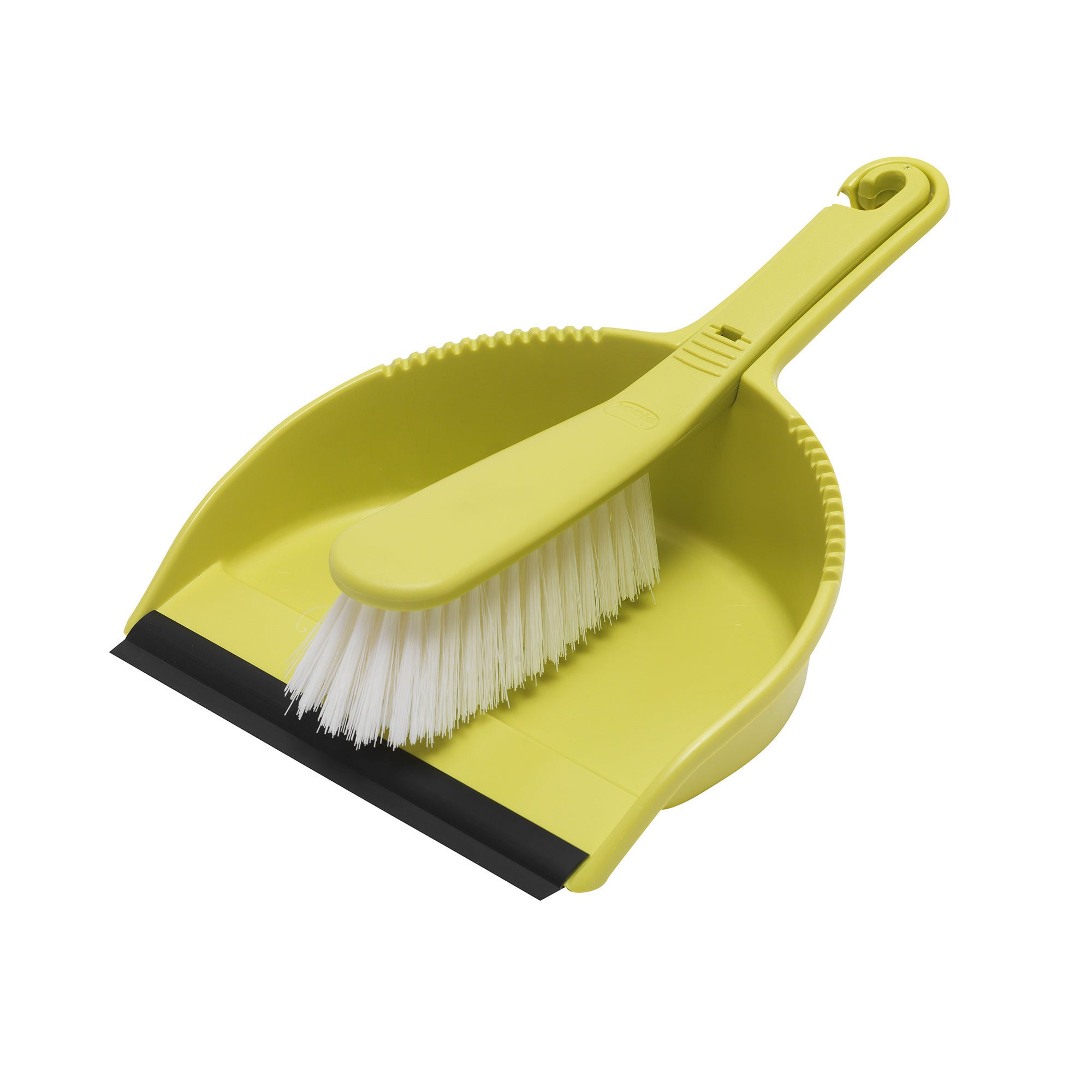 Lime Spectrum Collection Dustpan and Brush