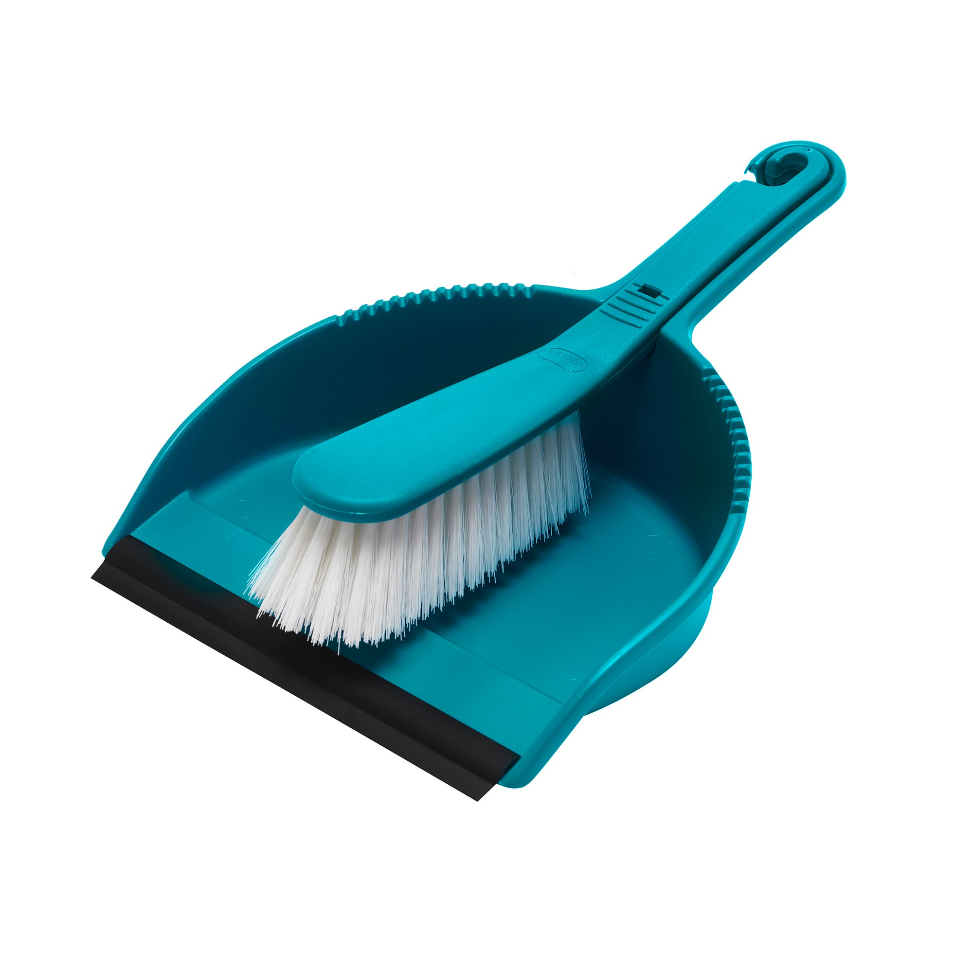 Teal Spectrum Collection Dustpan and Brush
