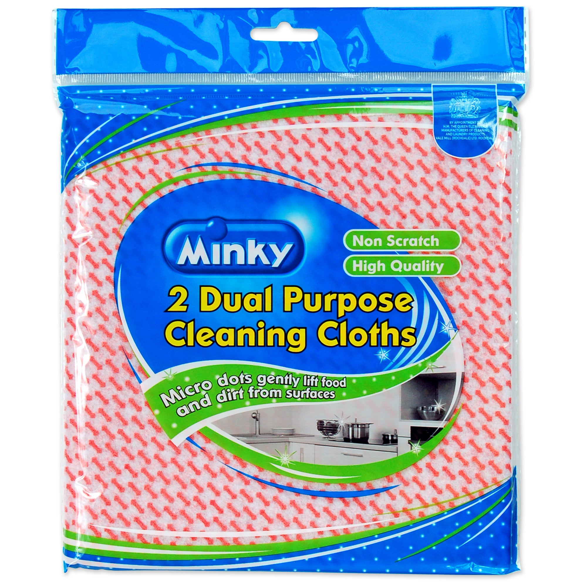 Minky Pack of 2 Dual Purpose Cleaning Cloths