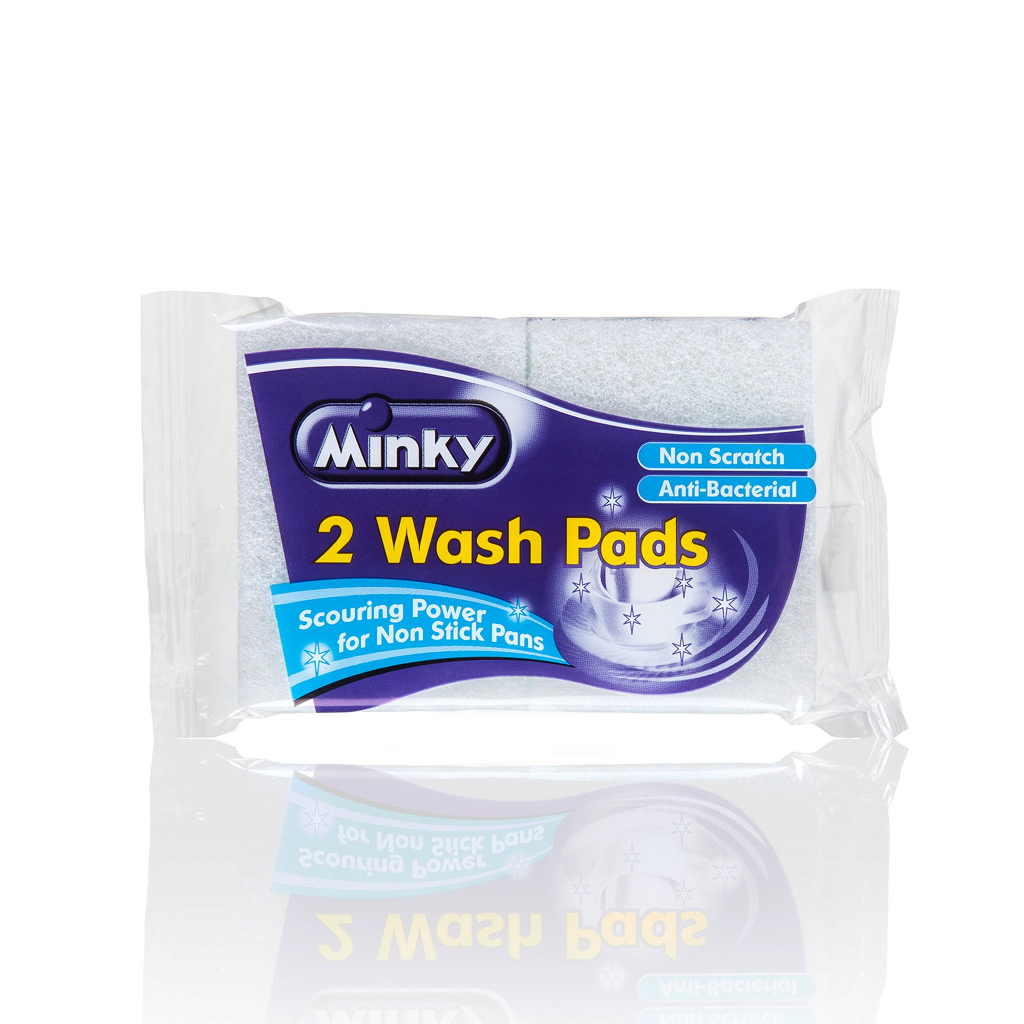 Minky Pack of 2 Anti Bacterial Wash Pads