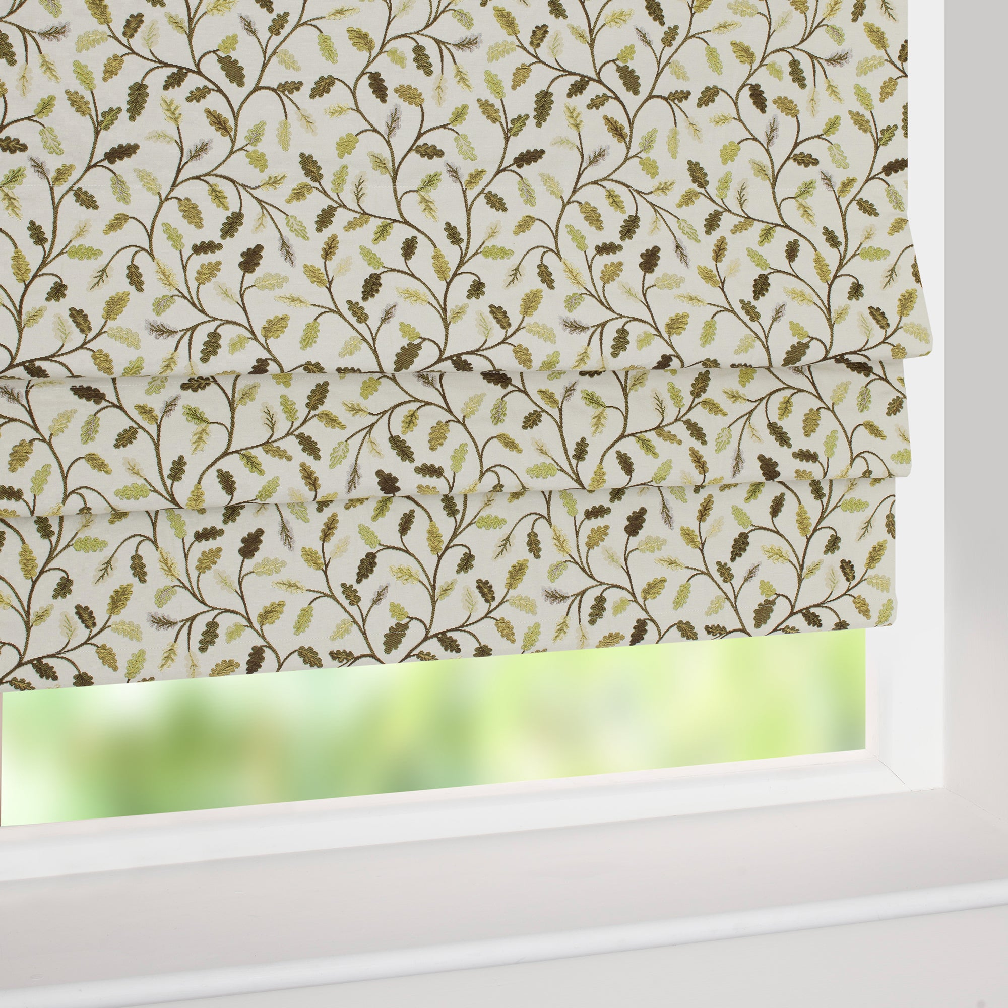 Heritage Lime Glava Blackout Roman Blind