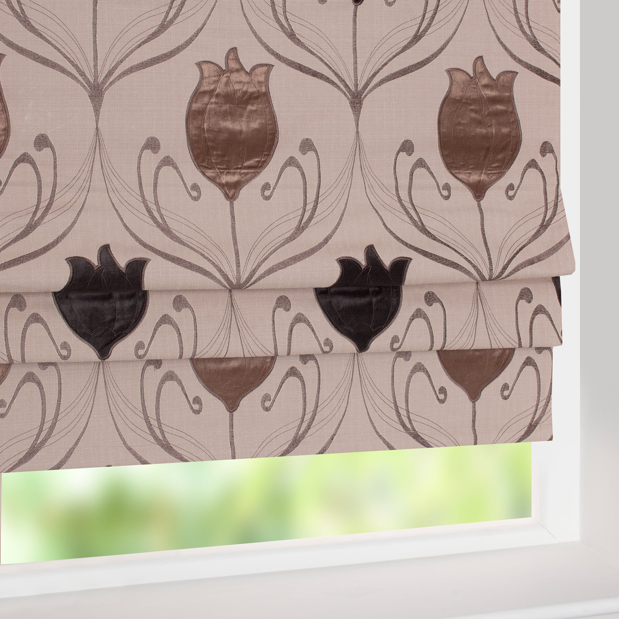 Chocolate Lalique Curtain Collection