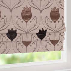 Chocolate Lalique Collection Blackout Roman Blind