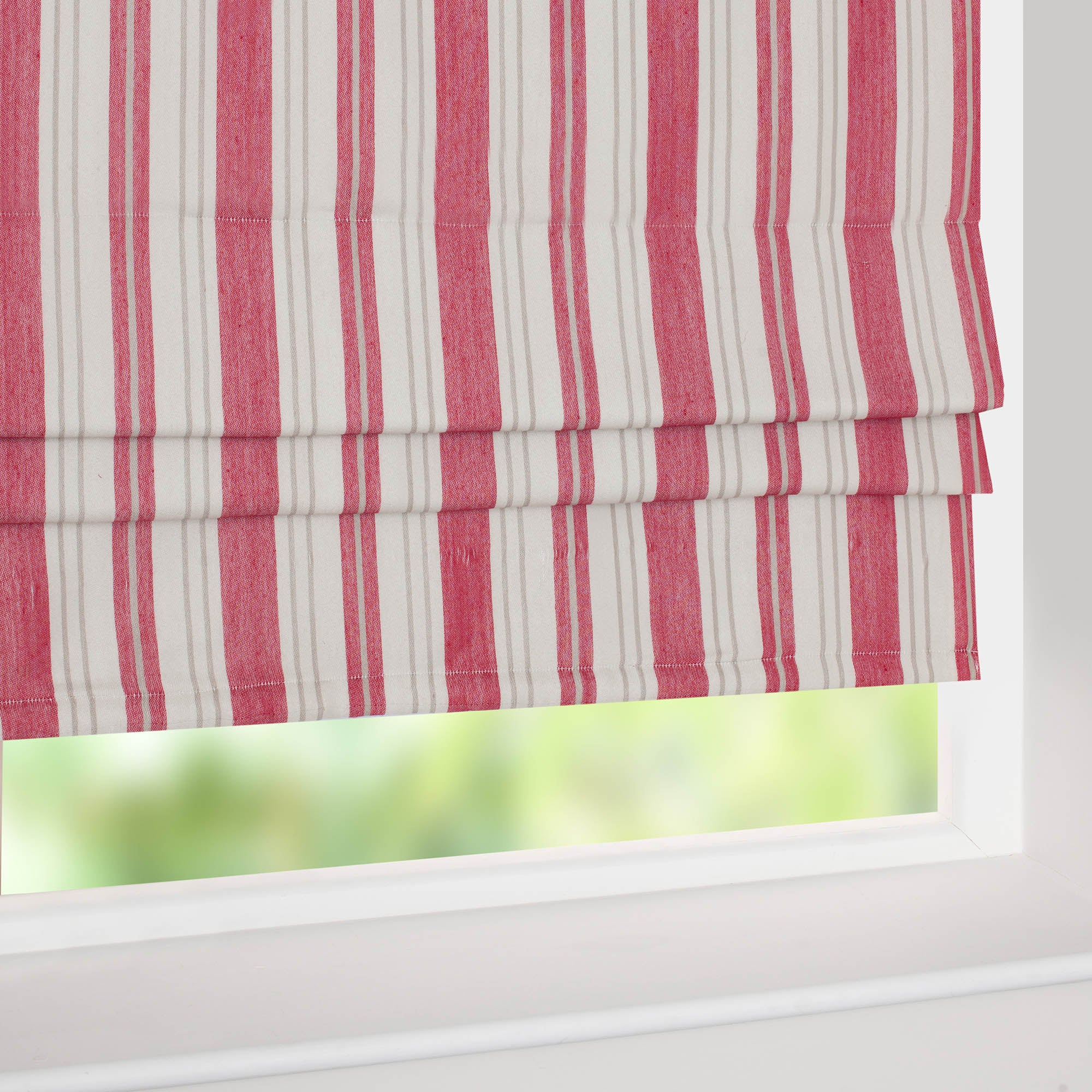 Red New Haven Roman Blind