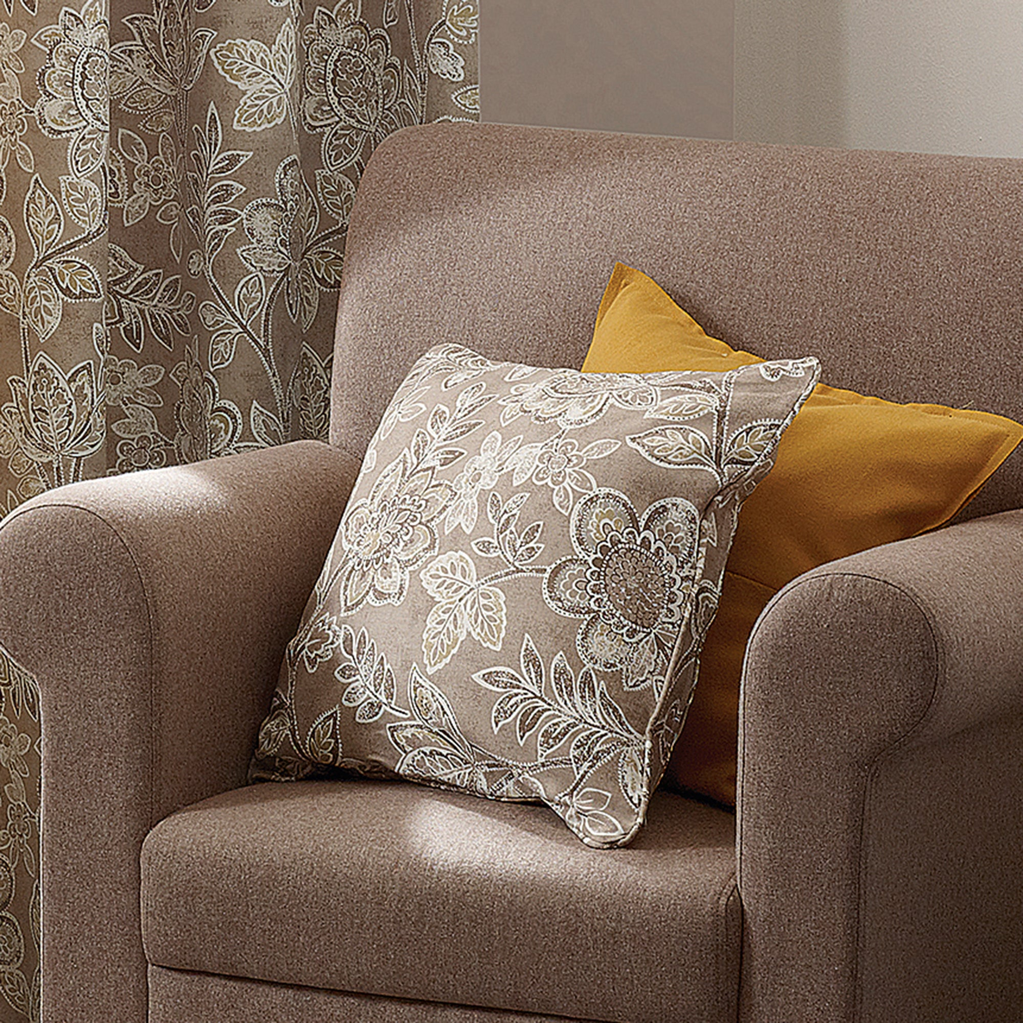 Natural Paisley Collection Filled Cushion