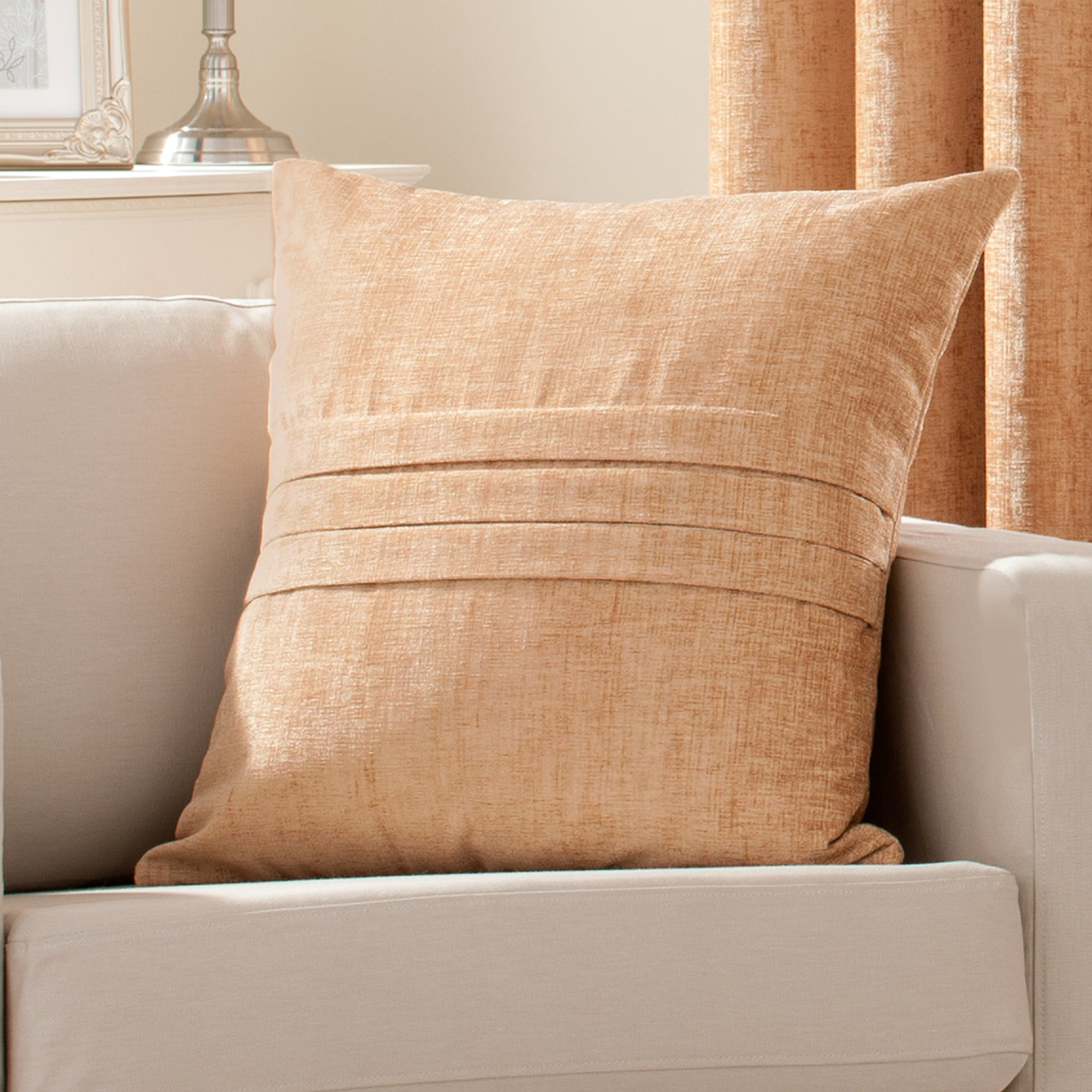 Gold Chenille Collection Cushion