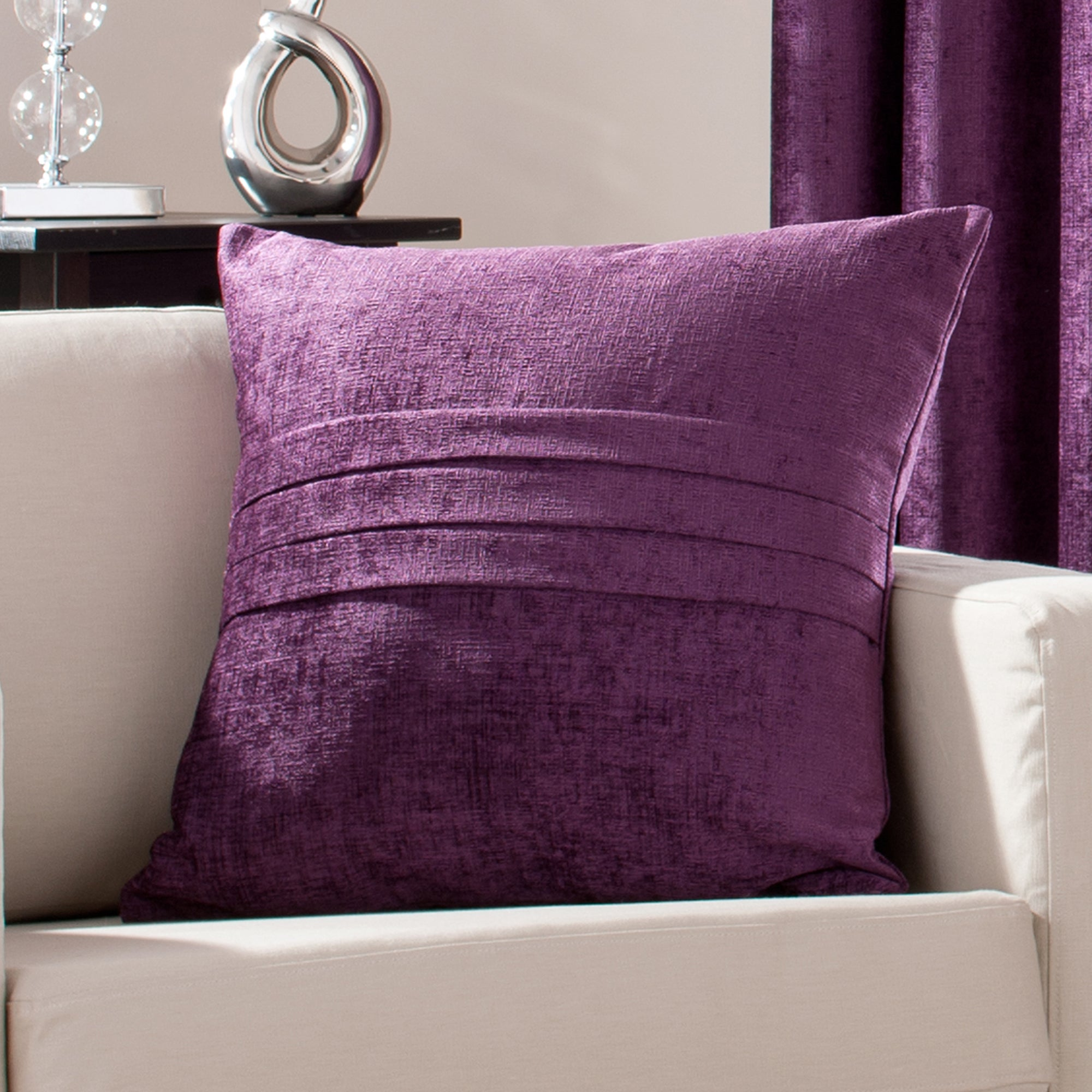 Plum Chenille Collection Cushion