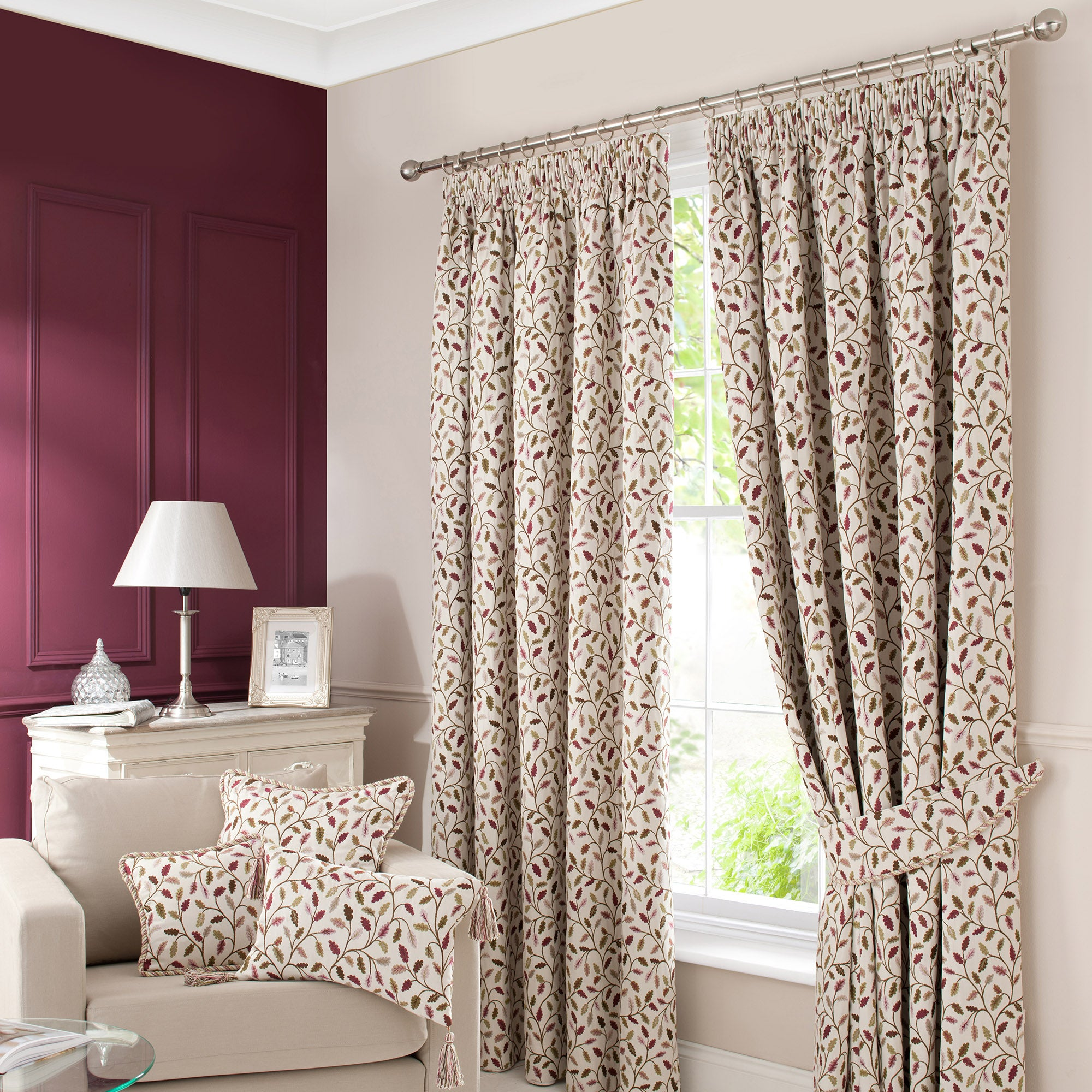 Heritage Damson Glava Curtain Collection