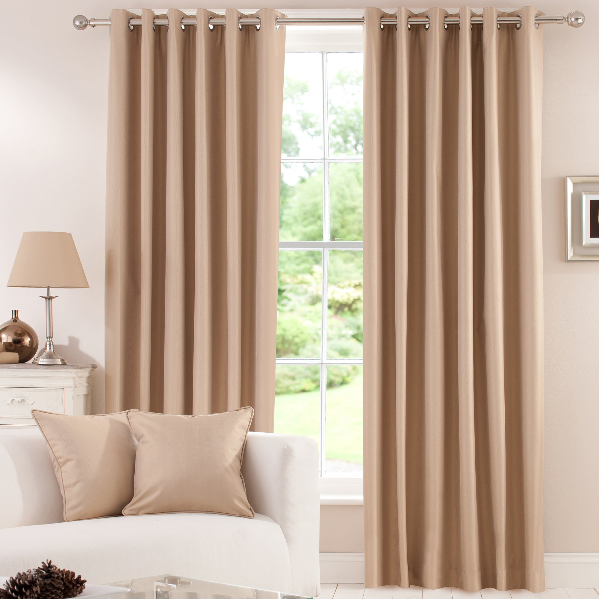 Gold Herringbone Curtain Collection