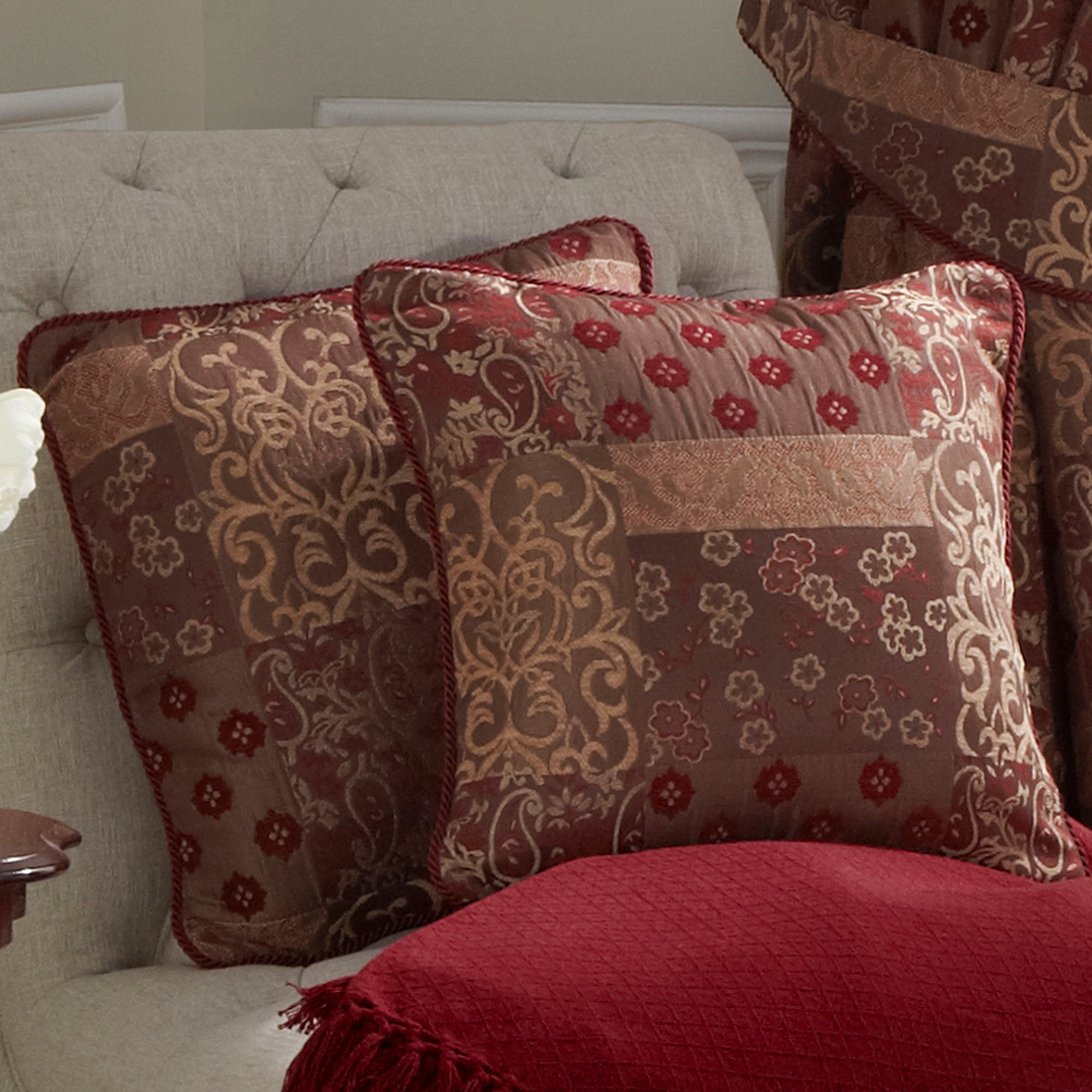 Claret Mayfair Collection Cushion