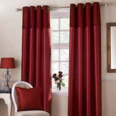 Red Opulence Lined Eyelet Curtains