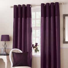 Aubergine Opulence Lined Eyelet Curtains