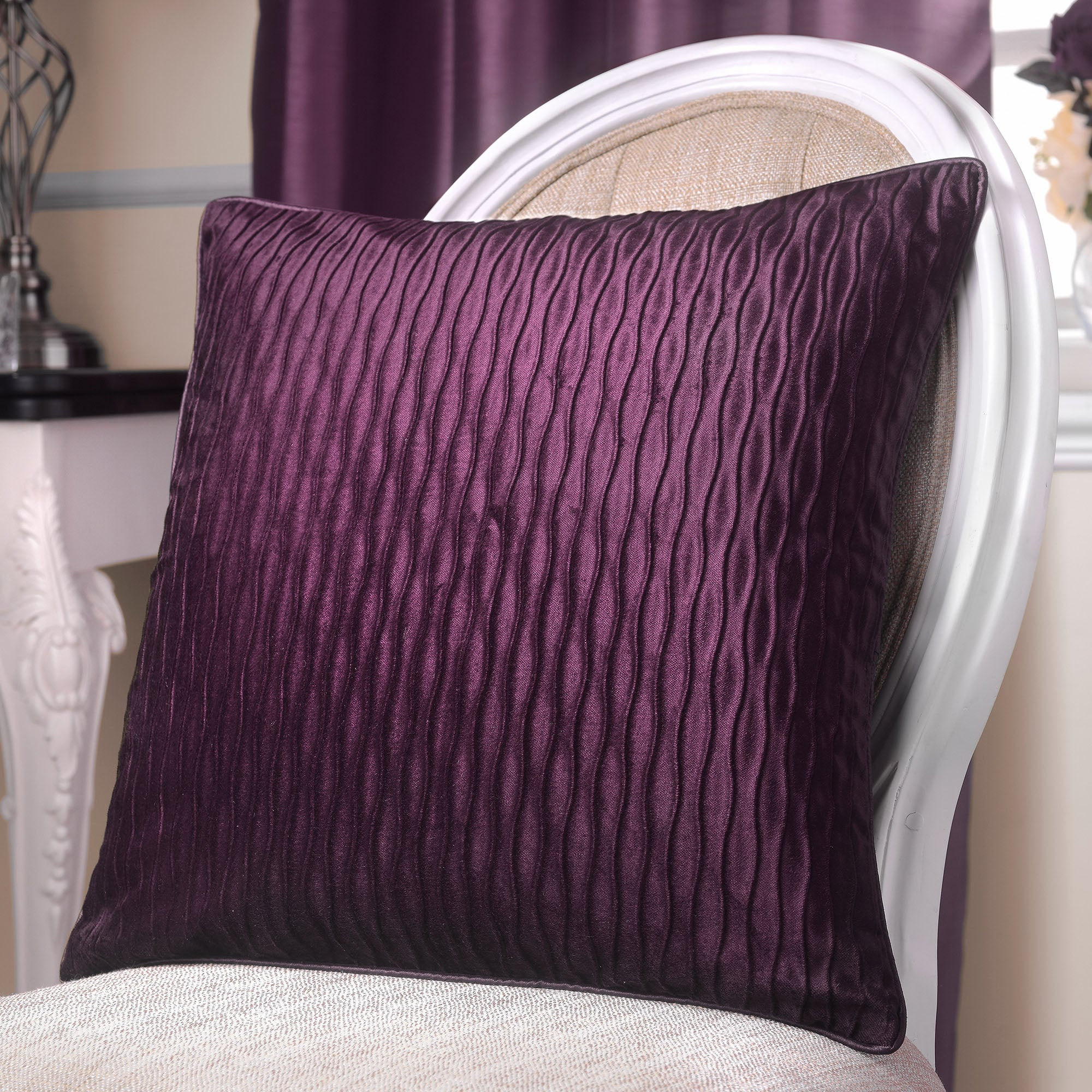 Aubergine Opulence Curtain Collection