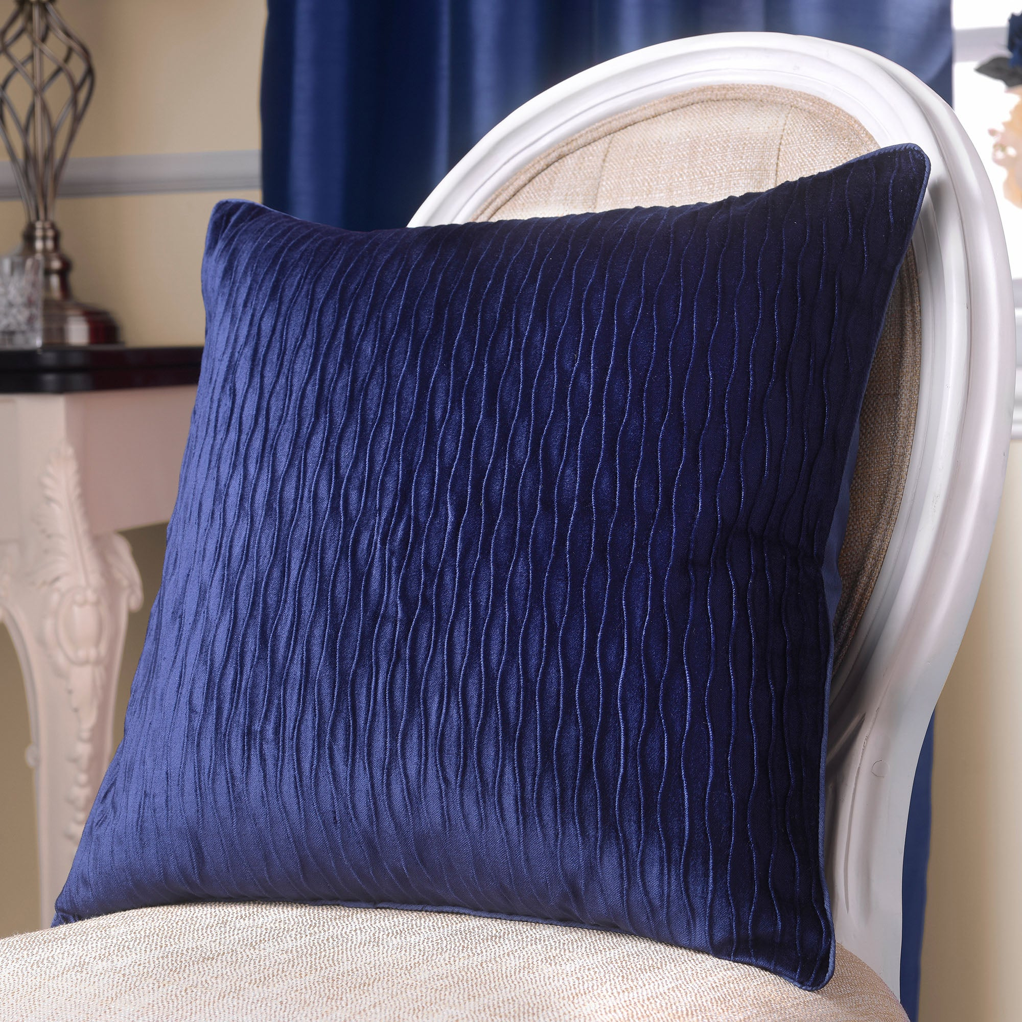 Midnight Blue Opulence Collection Cushion