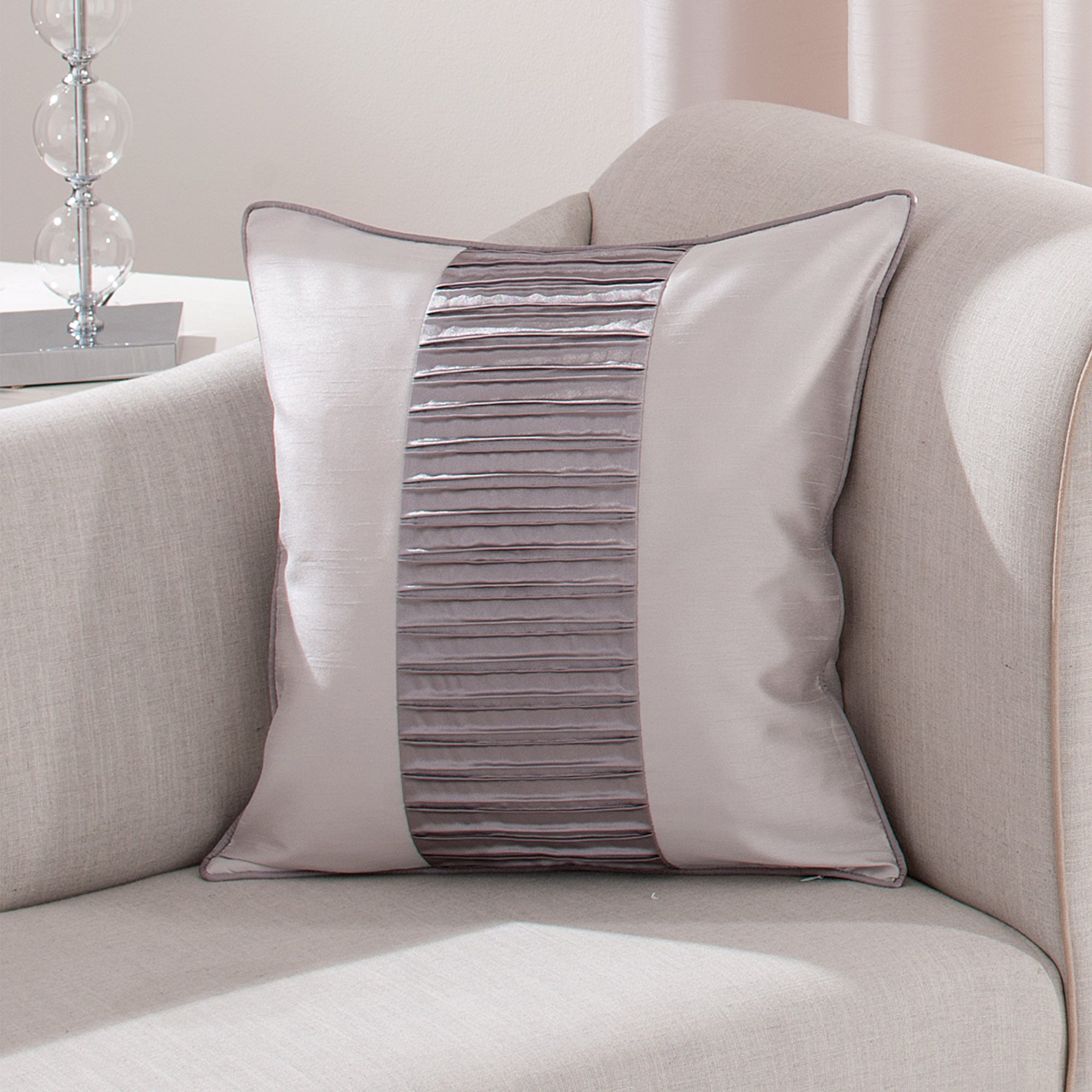 Silver Montreal Collection Cushion