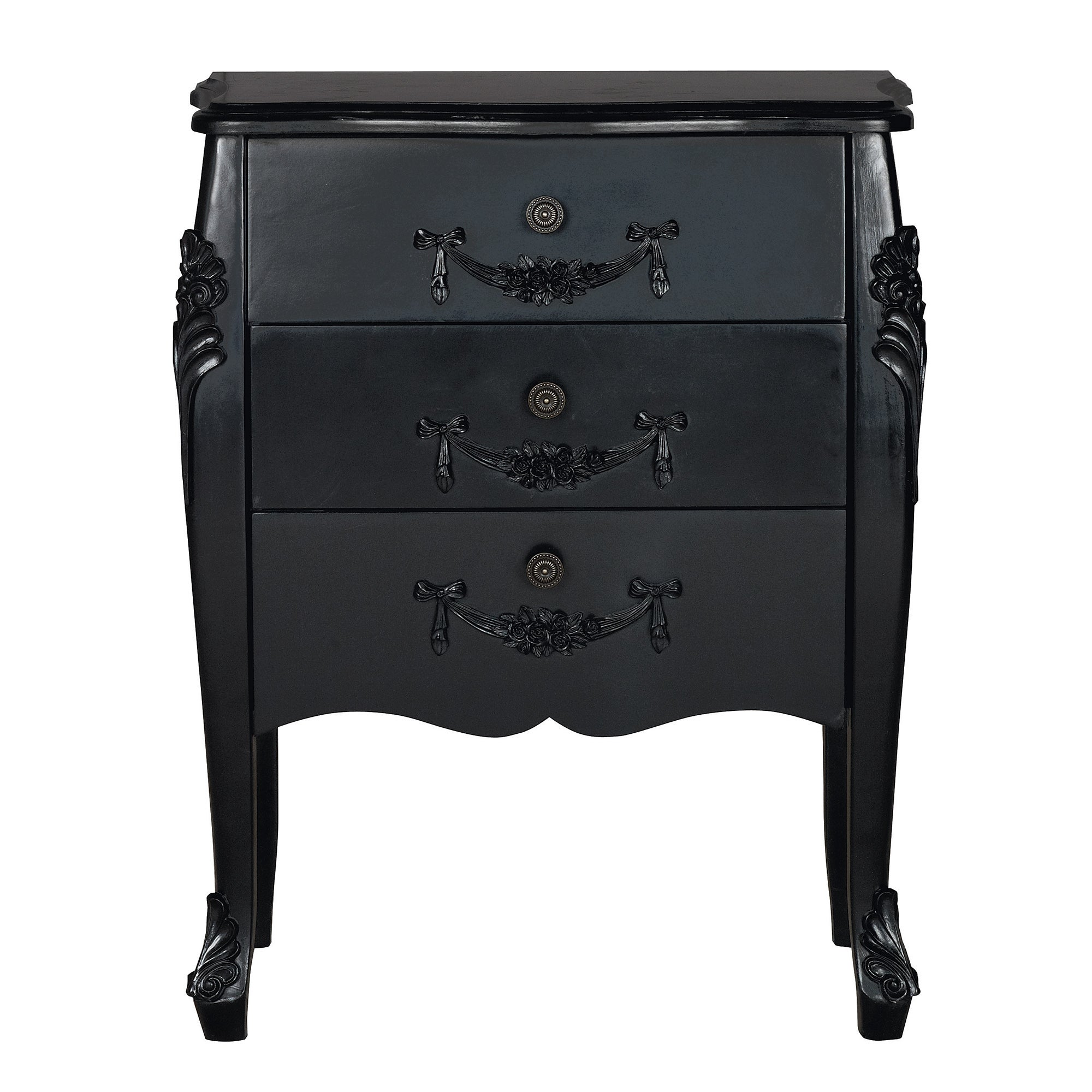 Toulouse Black 3 Drawer Chest