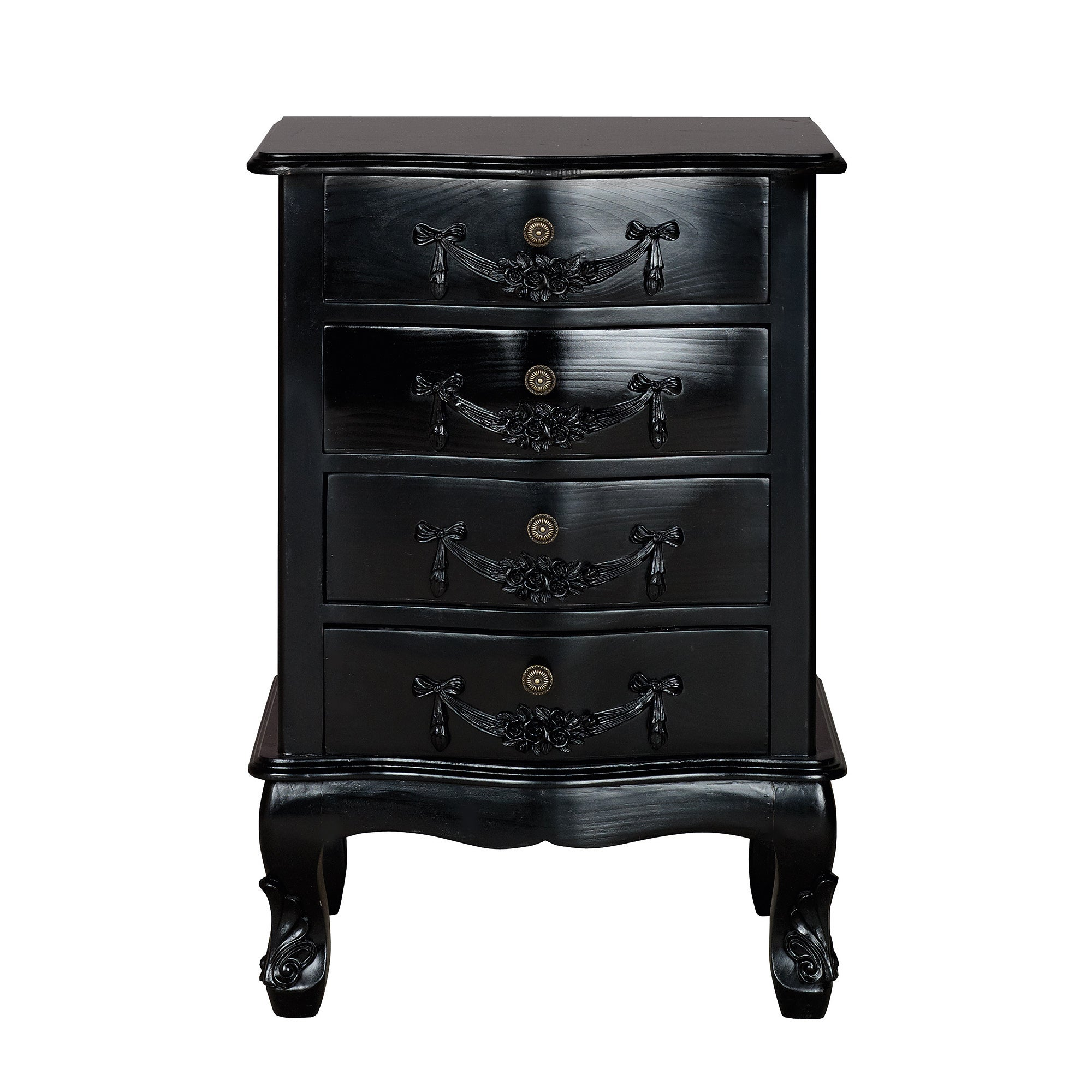 Toulouse Black 4 Drawer Cabinet