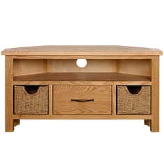 Sidmouth Oak Corner TV Unit