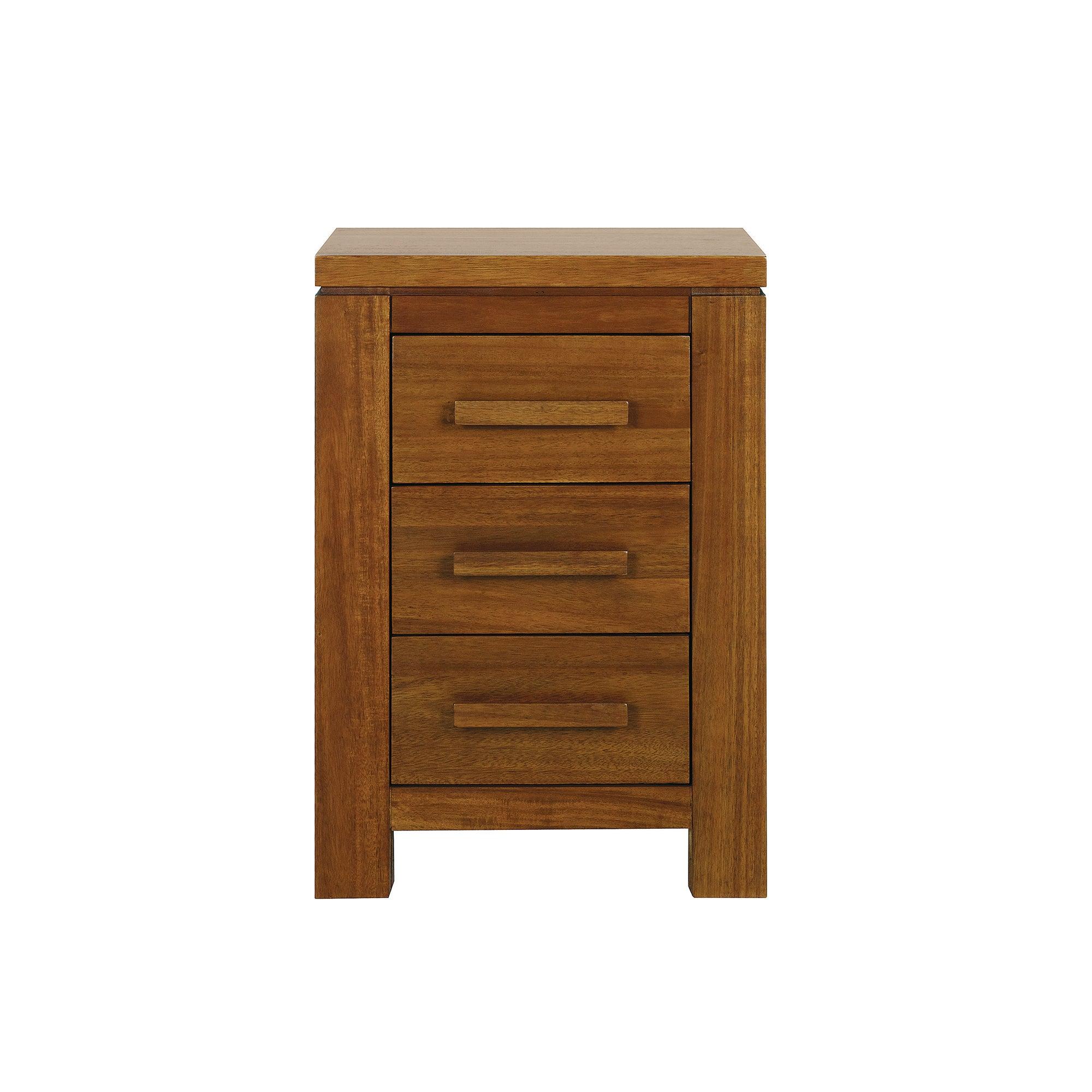 Seville Acacia Dark Wood Bedside Cabinet