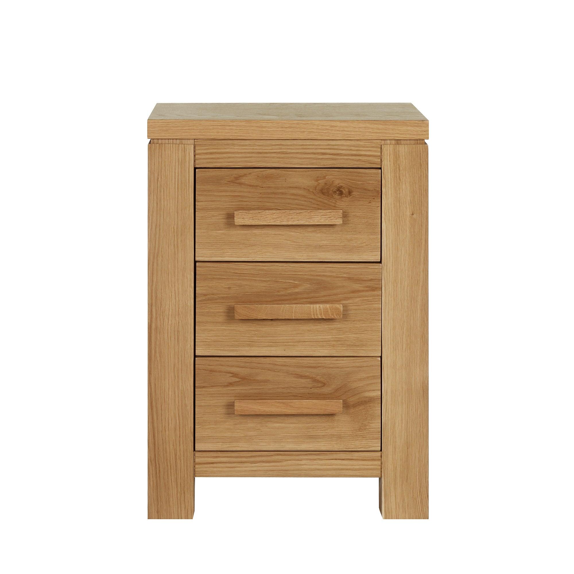 seville oak bedside cabinet dunelm. Black Bedroom Furniture Sets. Home Design Ideas